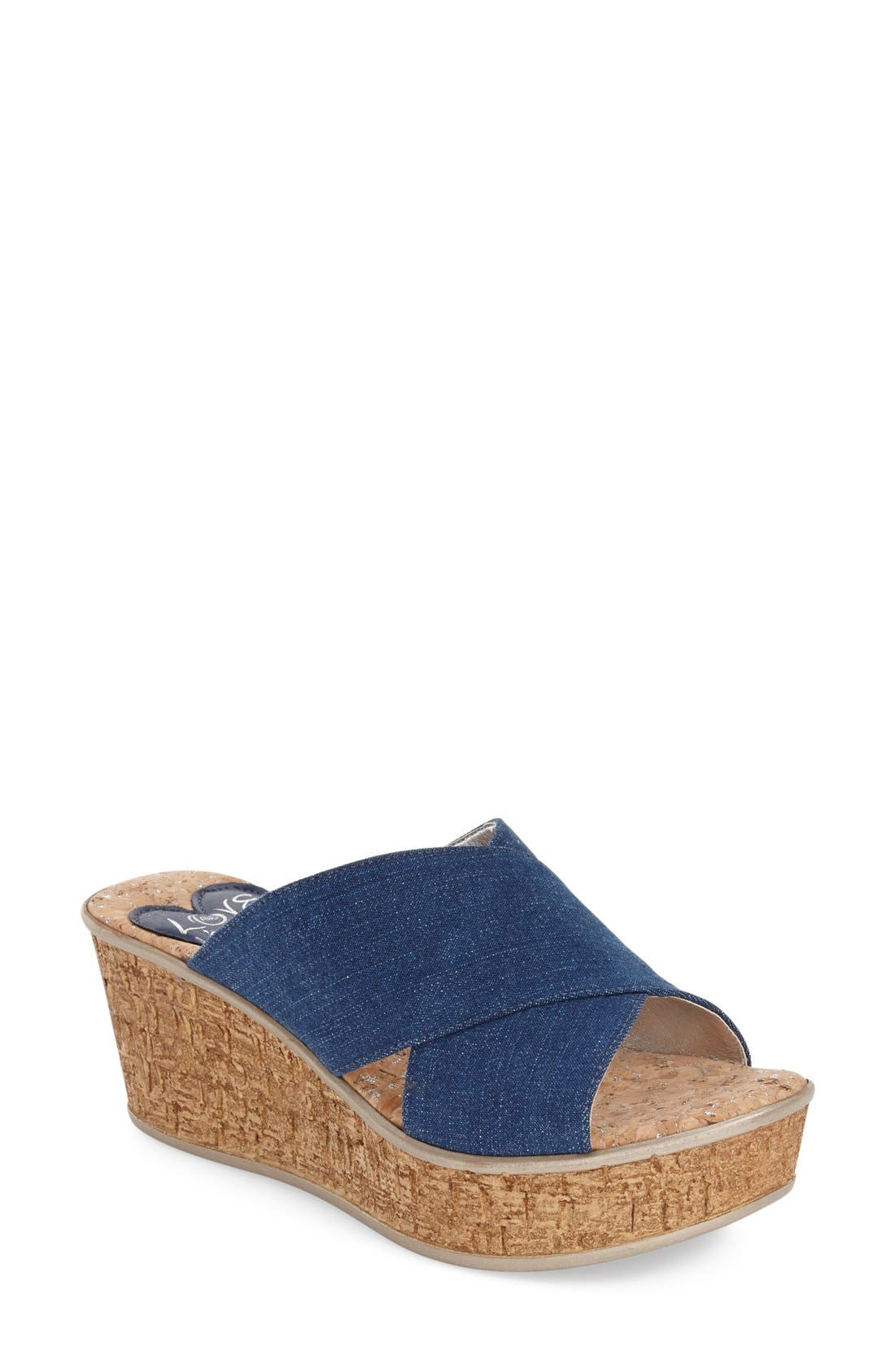 Love and Liberty 'Olga' Wedge Slide Sandal (Women)