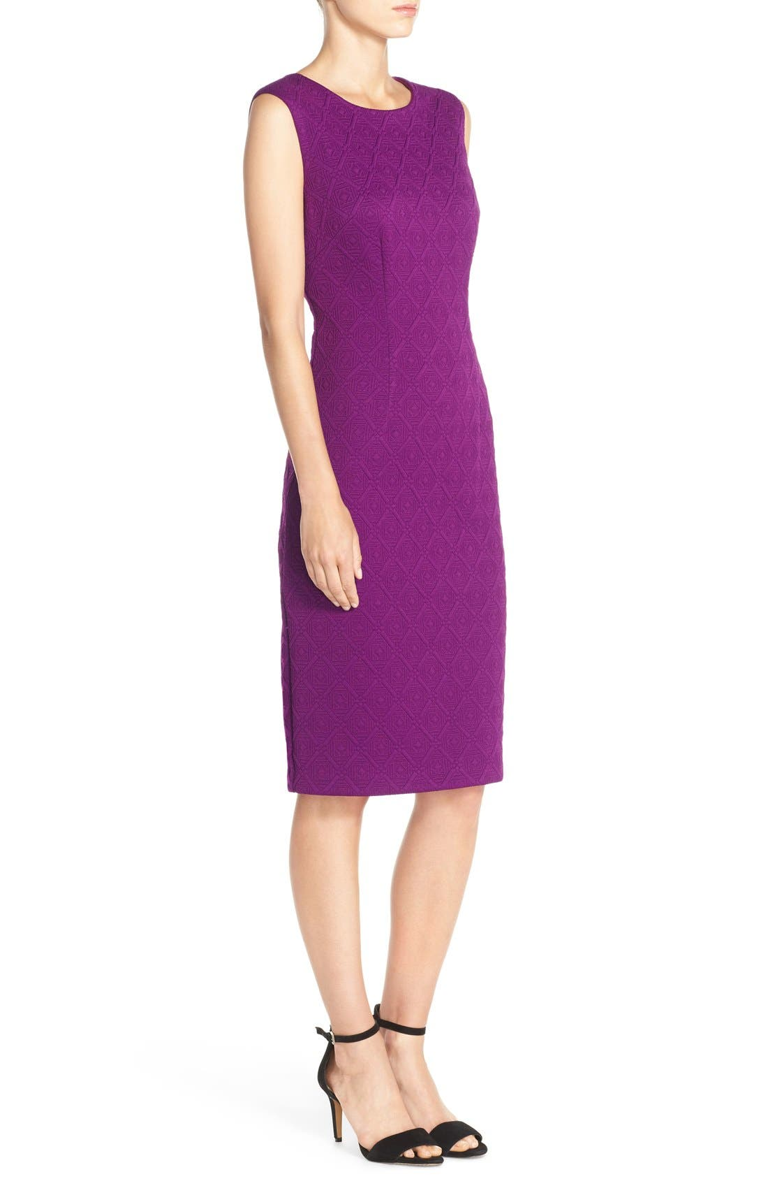 Alternate Image 3  - Betsey Johnson Textured Knit Sheath Dress
