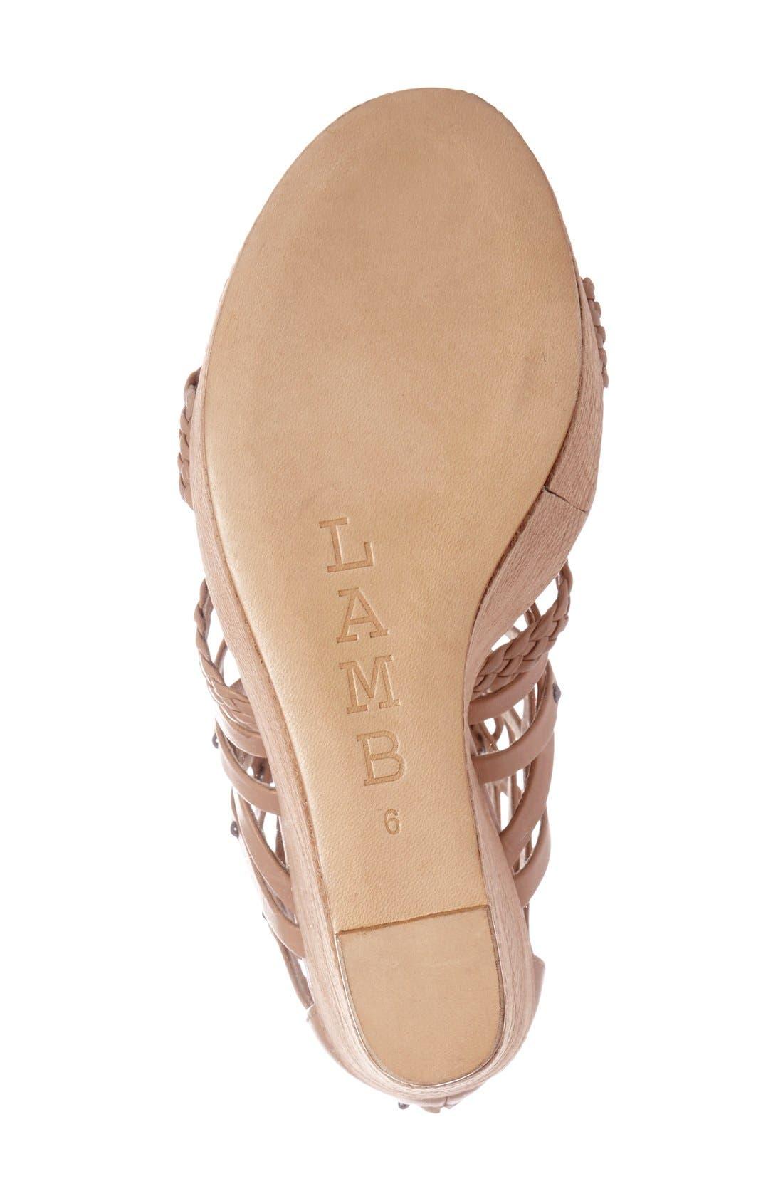 Alternate Image 4  - L.A.M.B. 'Omega' Wedge Sandal (Women)