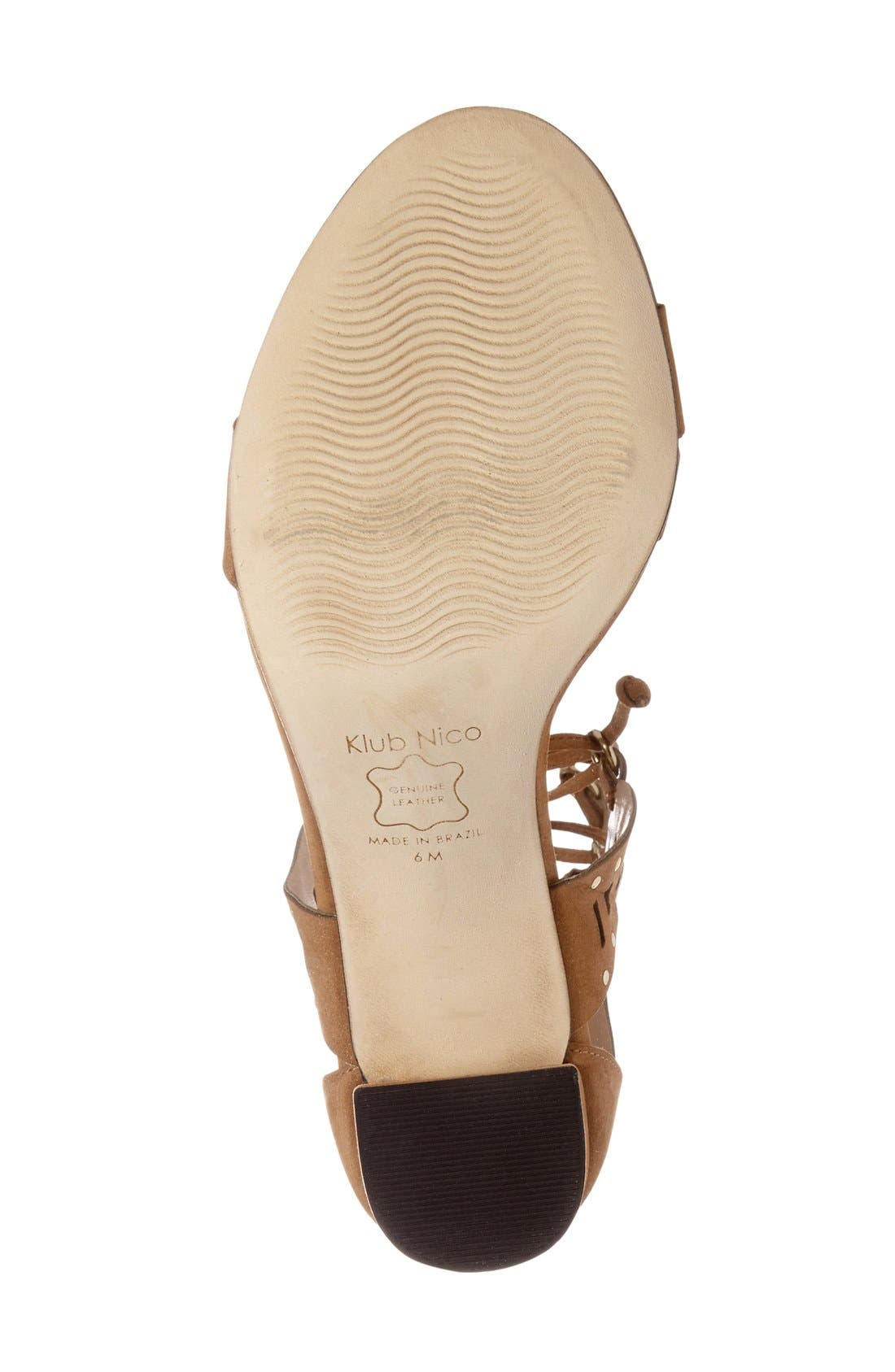 Alternate Image 4  - Klub Nico 'Tarina' Gladiator Sandal (Women)