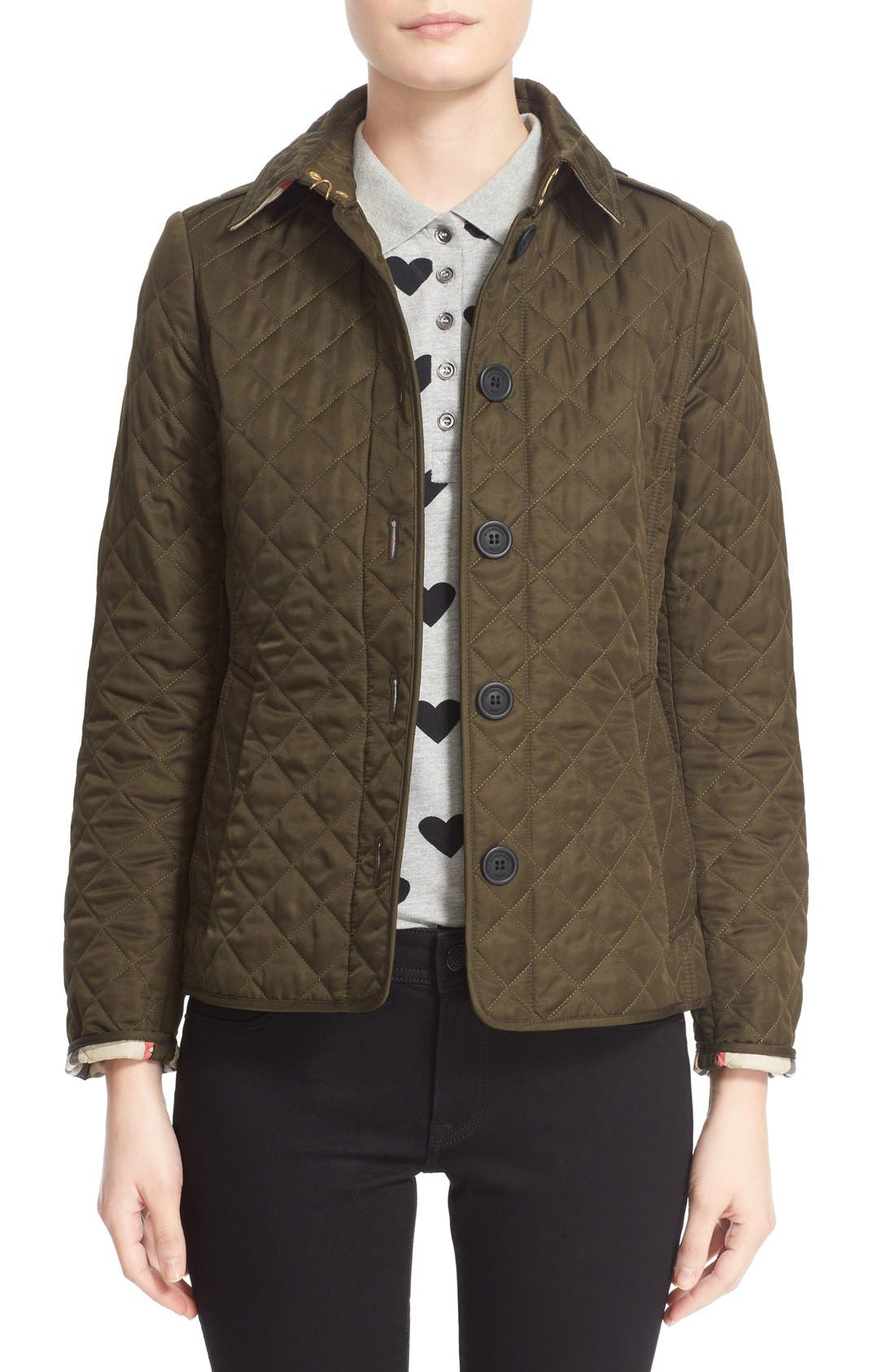Main Image - Burberry Ashurst Quilted Jacket