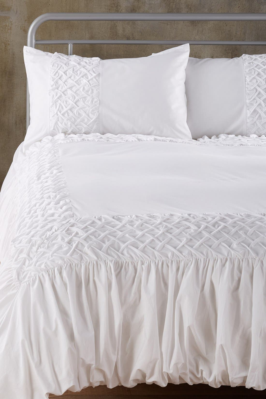 Main Image - Nordstrom at Home 'Cady' Smocked Weave Duvet Cover