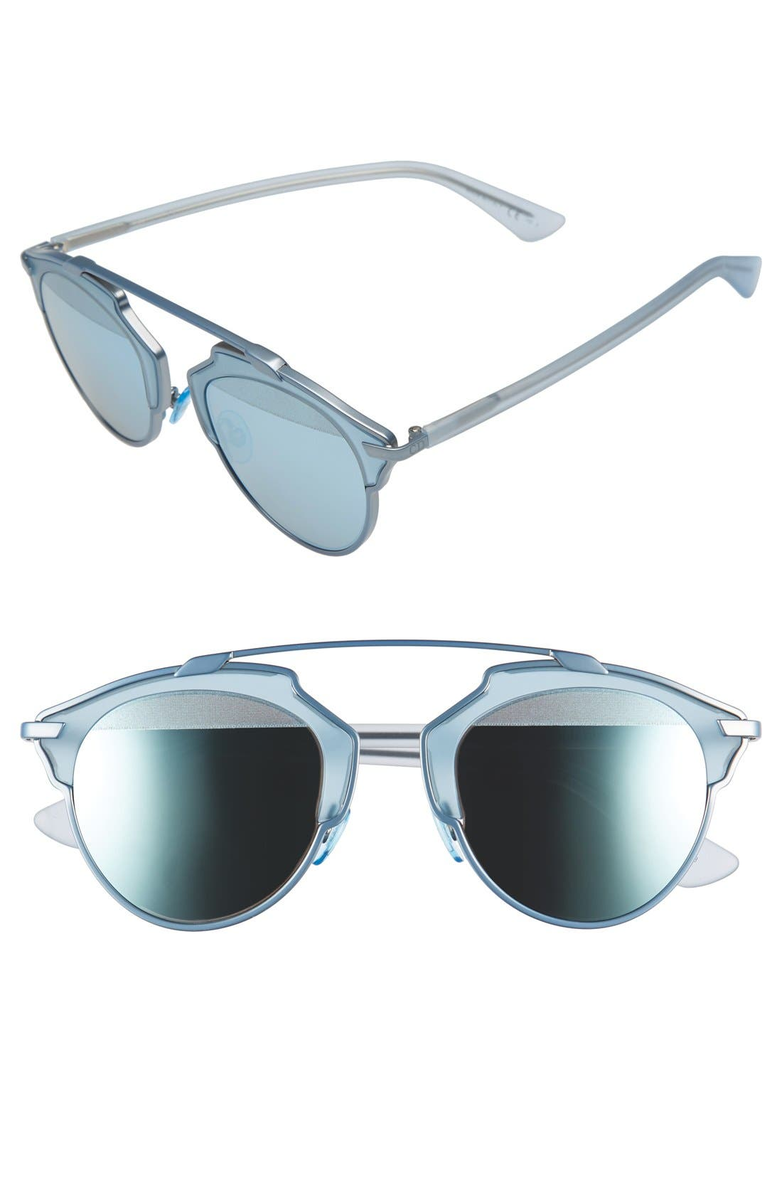 Main Image - Dior So Real 48mm Brow Bar Sunglasses