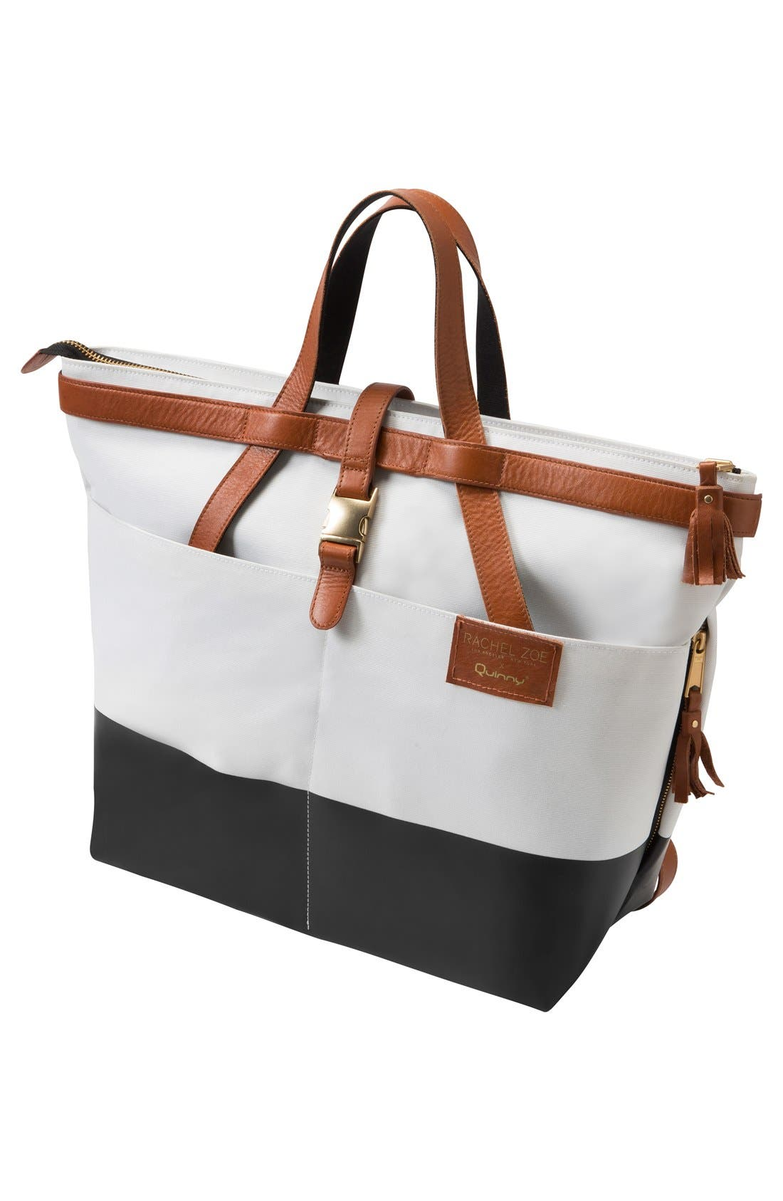 Main Image - Quinny x Rachel Zoe 'Jet Set' Canvas Diaper Bag