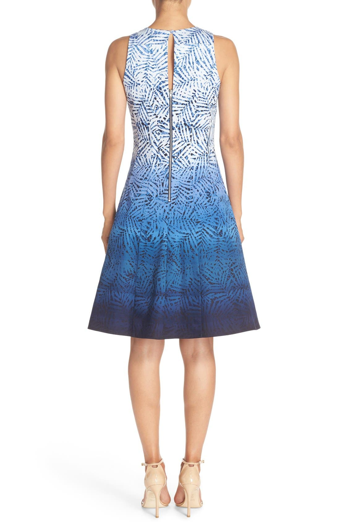 Alternate Image 2  - Maggy London Ombré Print Fit & Flare Dress
