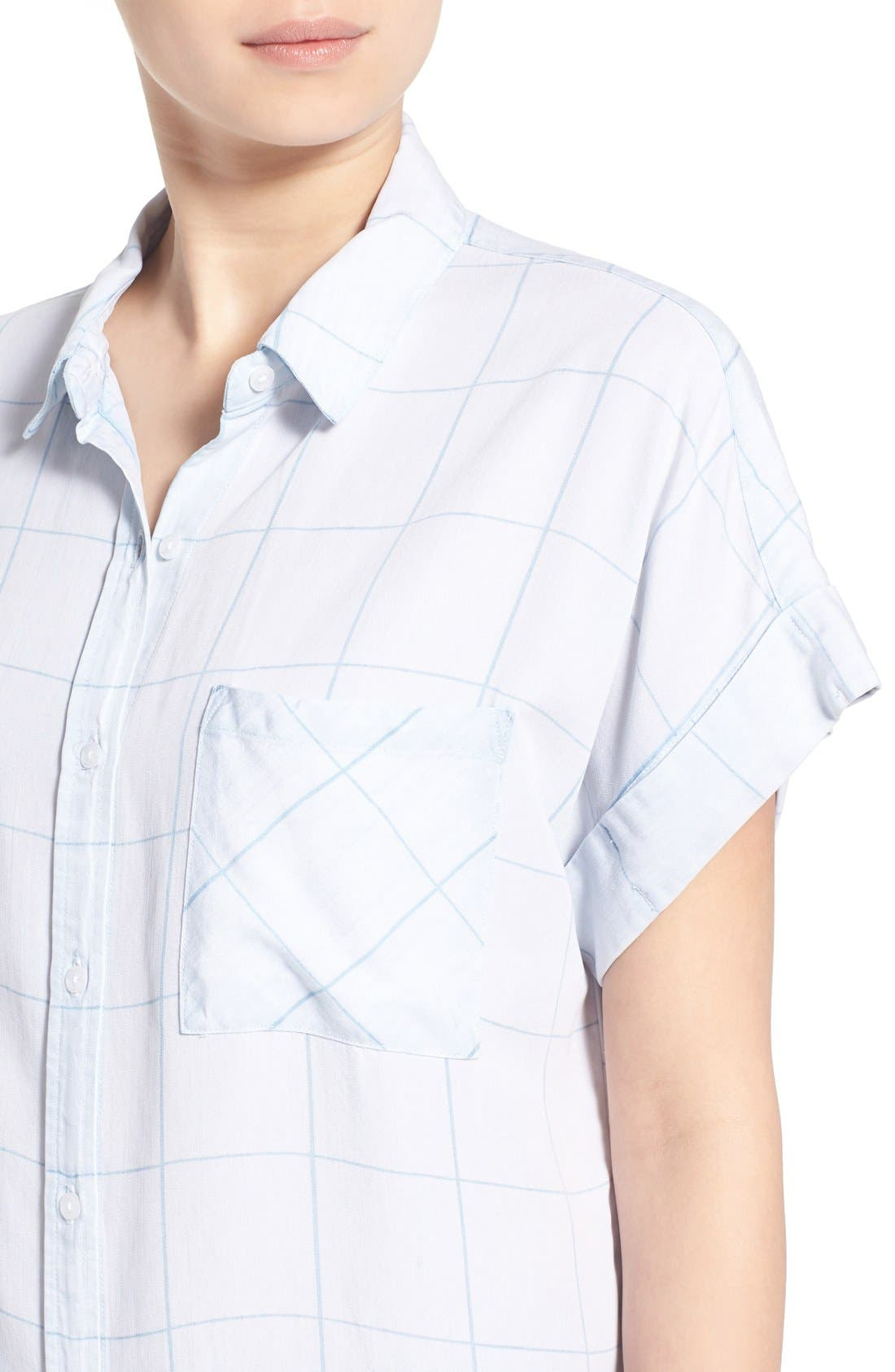 Alternate Image 4  - Rails 'Whitney' Windowpane Print Top