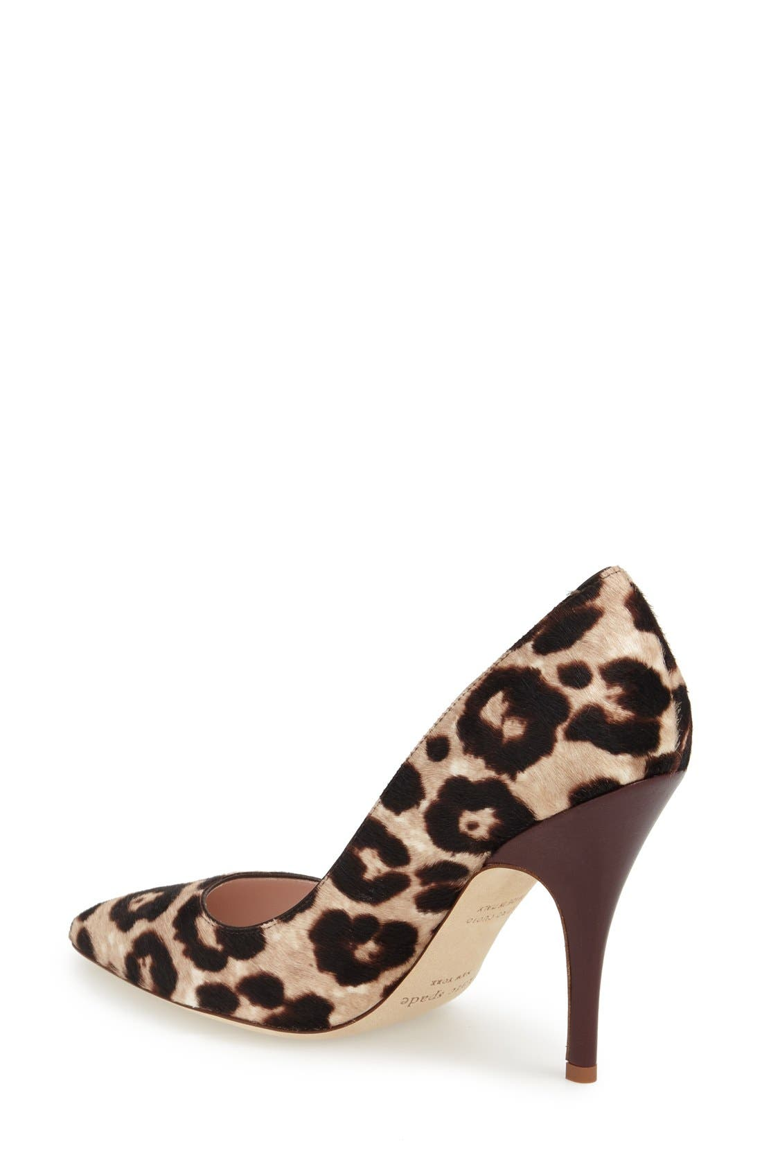 Alternate Image 2  - kate spade new york 'licorice too' genuine calf hair pump (Women)
