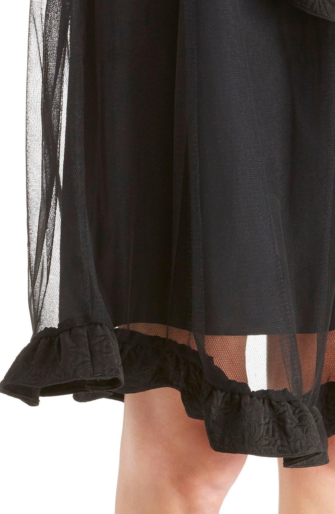 Alternate Image 6  - Simone Rocha Brocade Trim Tulle Skirt