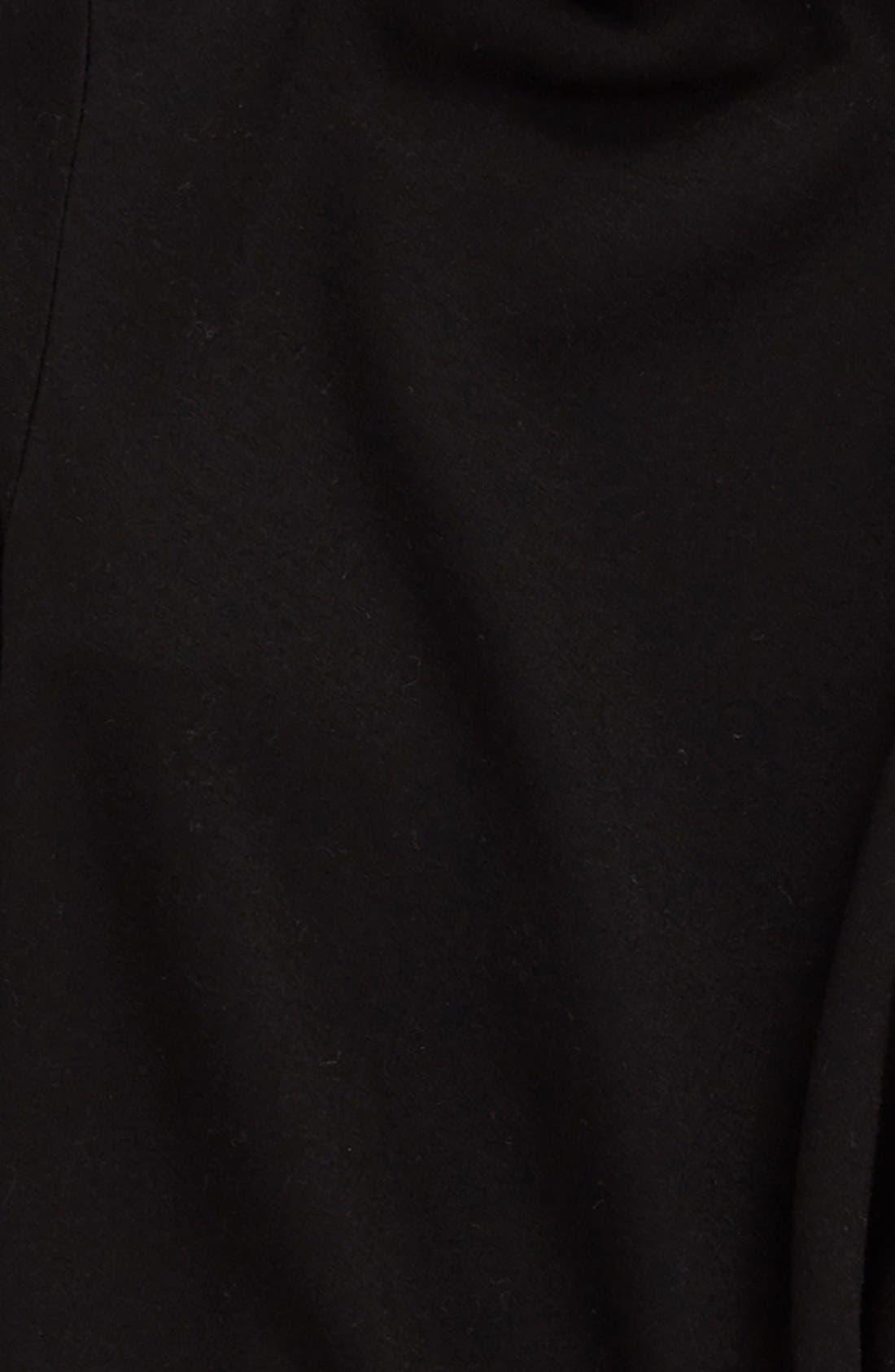 Alternate Image 3  - h.i.p. One-Button Brushed Fleece Wrap Cardigan (Big Girls)