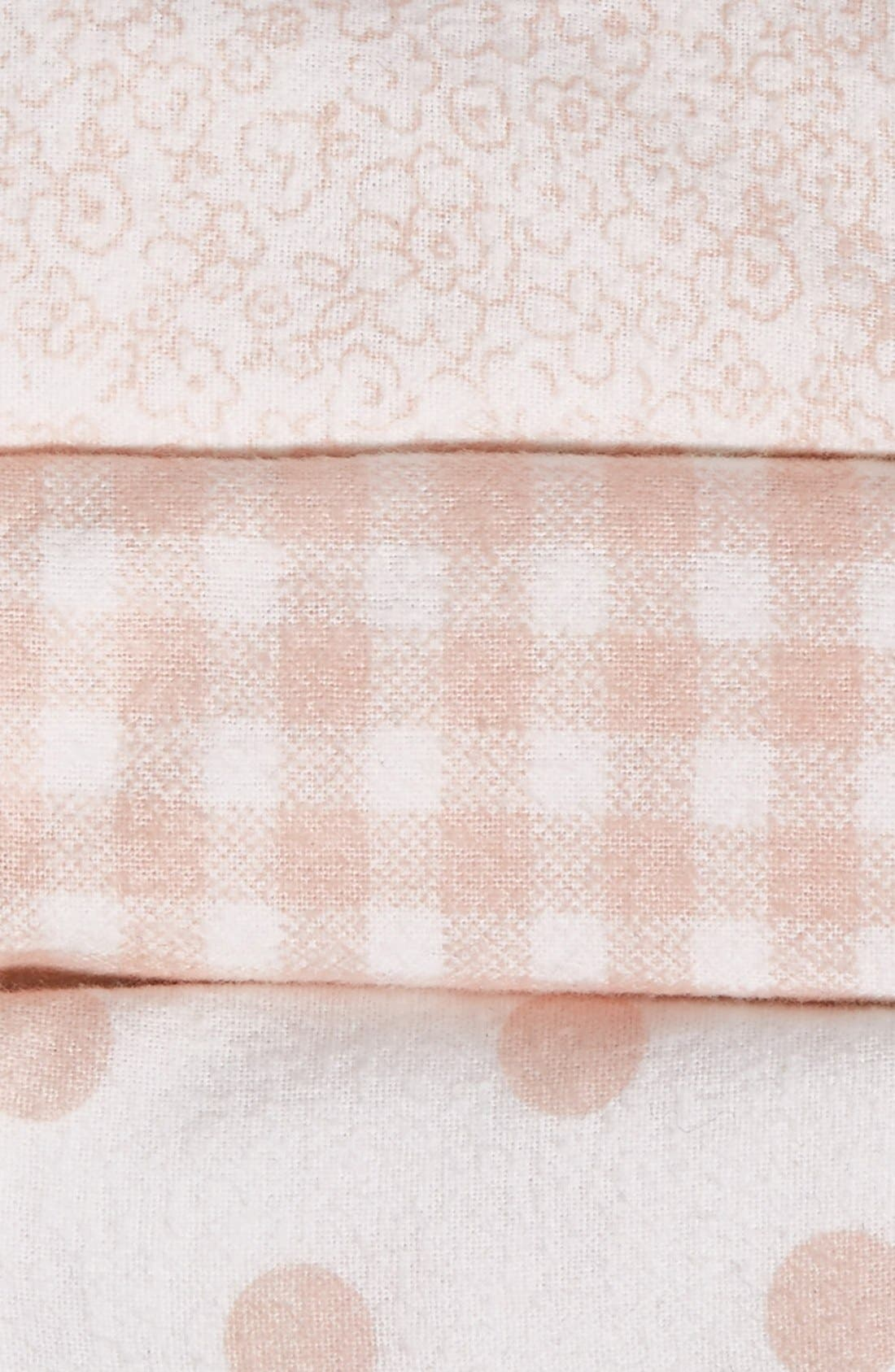 Alternate Image 3  - Nordstrom Baby Cotton Flannel Swaddles (3-Pack)