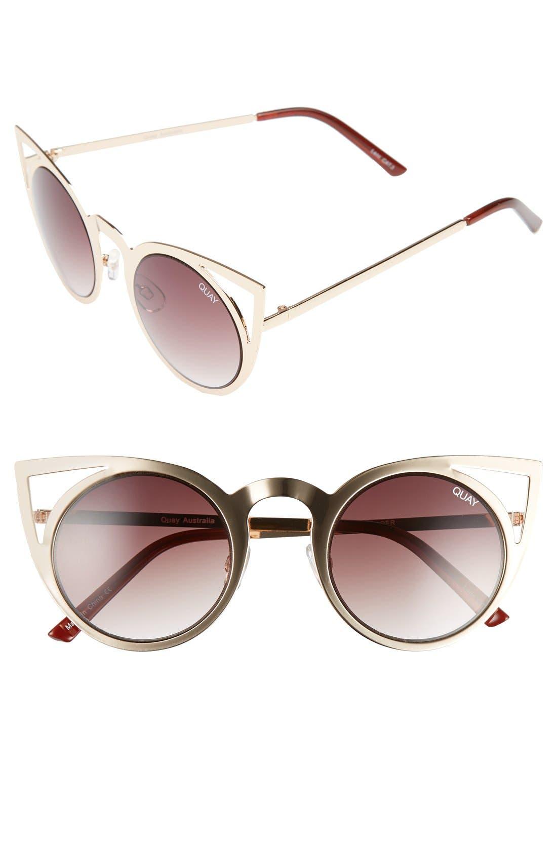 Alternate Image 1 Selected - Quay Australia 'Invader' 50mm Cat Eye Sunglasses
