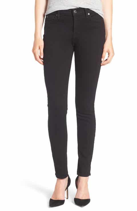 7 For All Mankind® Skinny Jeans - Black Wash Skinny Jeans For Women Nordstrom