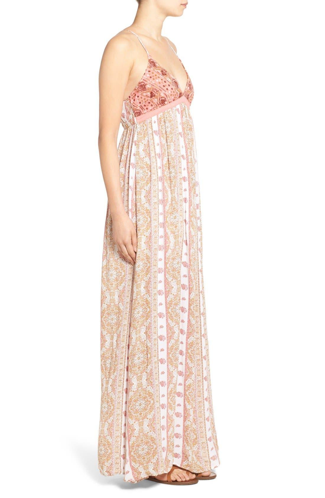 Alternate Image 3  - O'Neill 'Della' Embroidered Woven Maxi Dress
