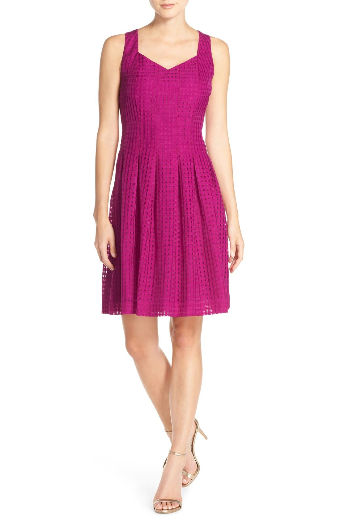 Main Image - Ivanka Trump Sleeveless Fit & Flare Dress