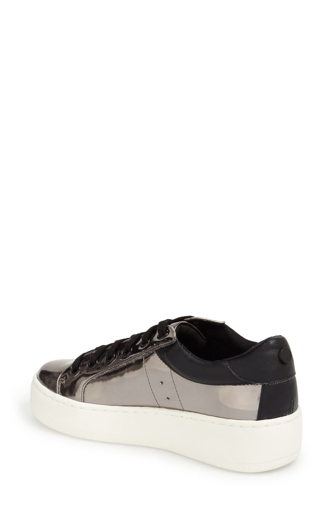 Alternate Image 2  - Steve Madden Bertie Metallic Platform Sneaker (Women)