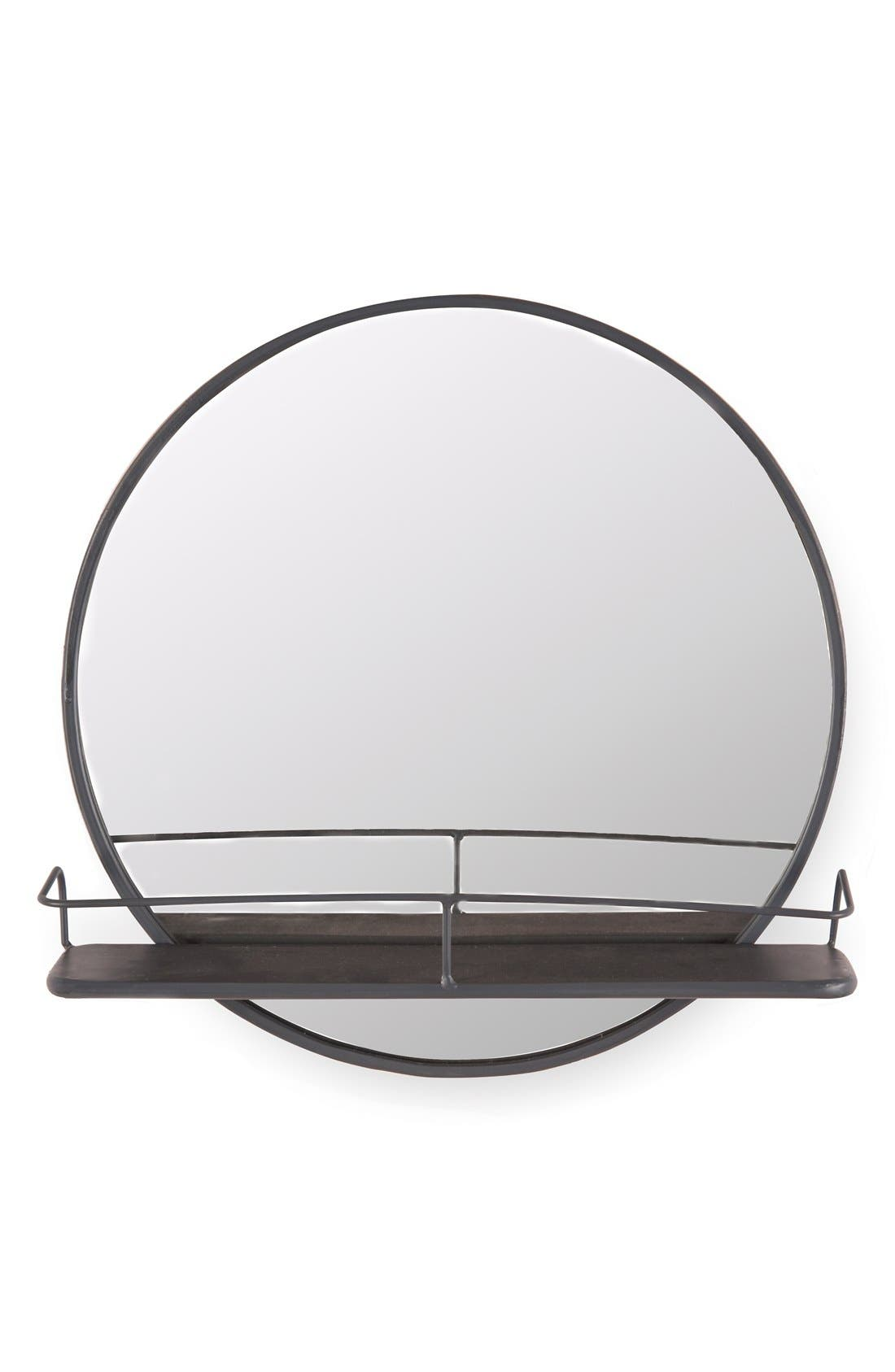 Alternate Image 1 Selected - Foreside Circle Shelf Mirror