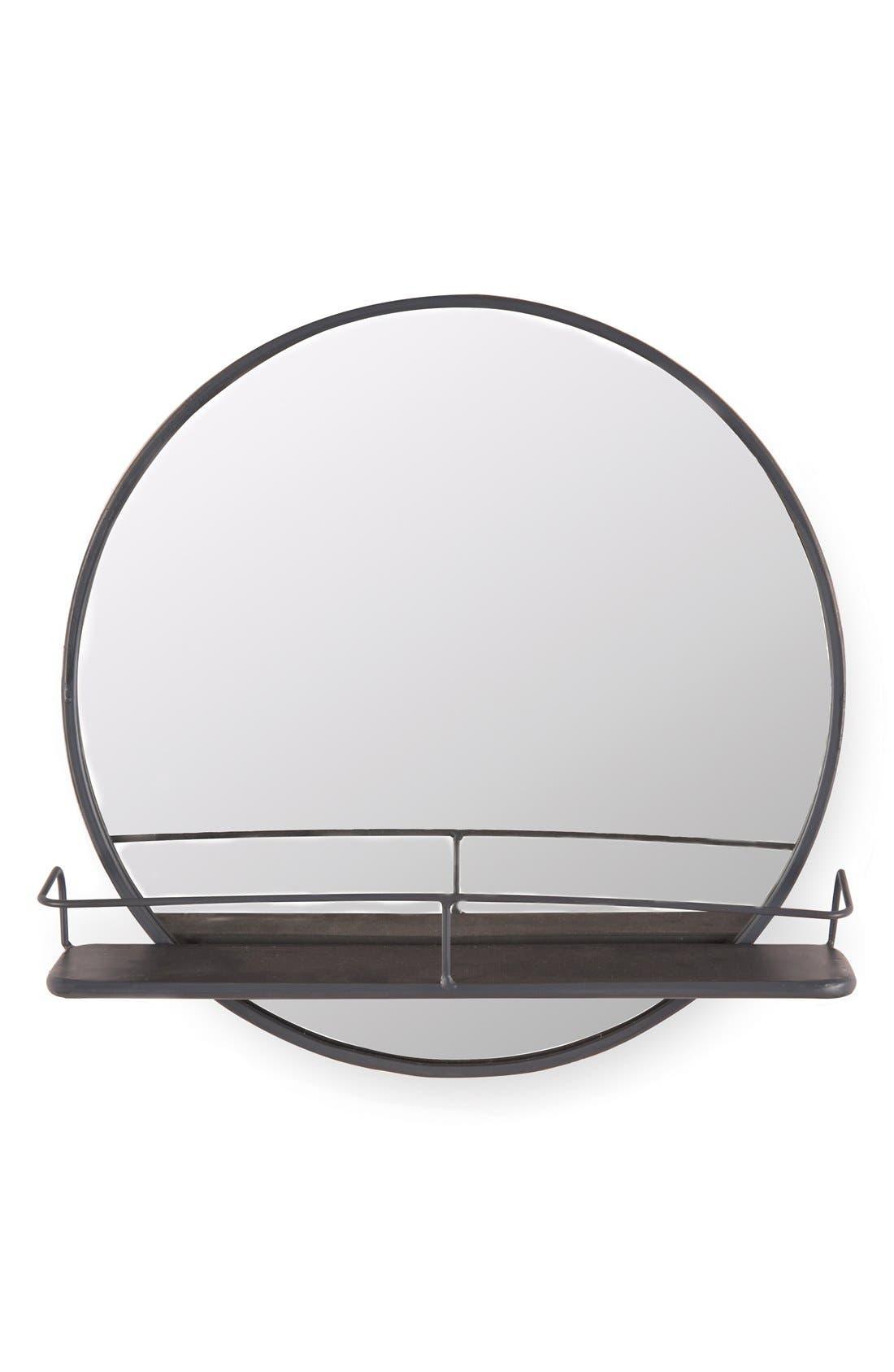 Main Image - Foreside Circle Shelf Mirror