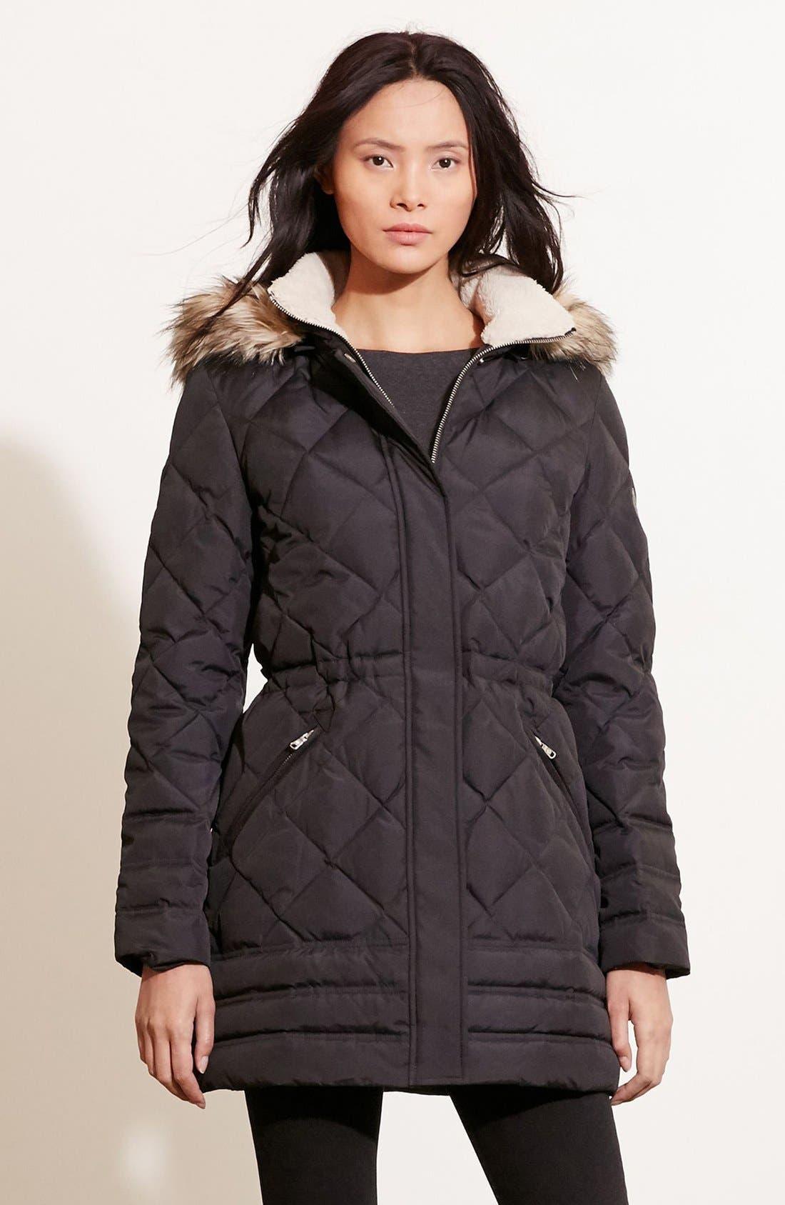 Alternate Image 3  - Lauren Ralph Lauren Quilted Jacket with Faux Fur Trim