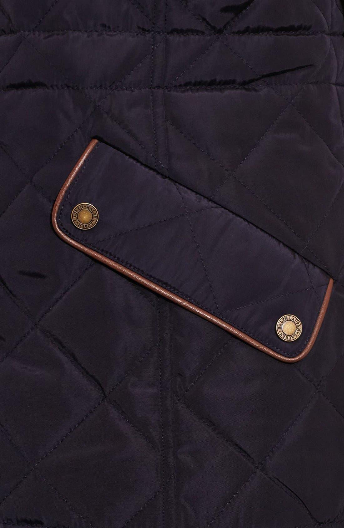 Alternate Image 3  - Lauren Ralph Lauren Quilt Vest (Regular & Petite)