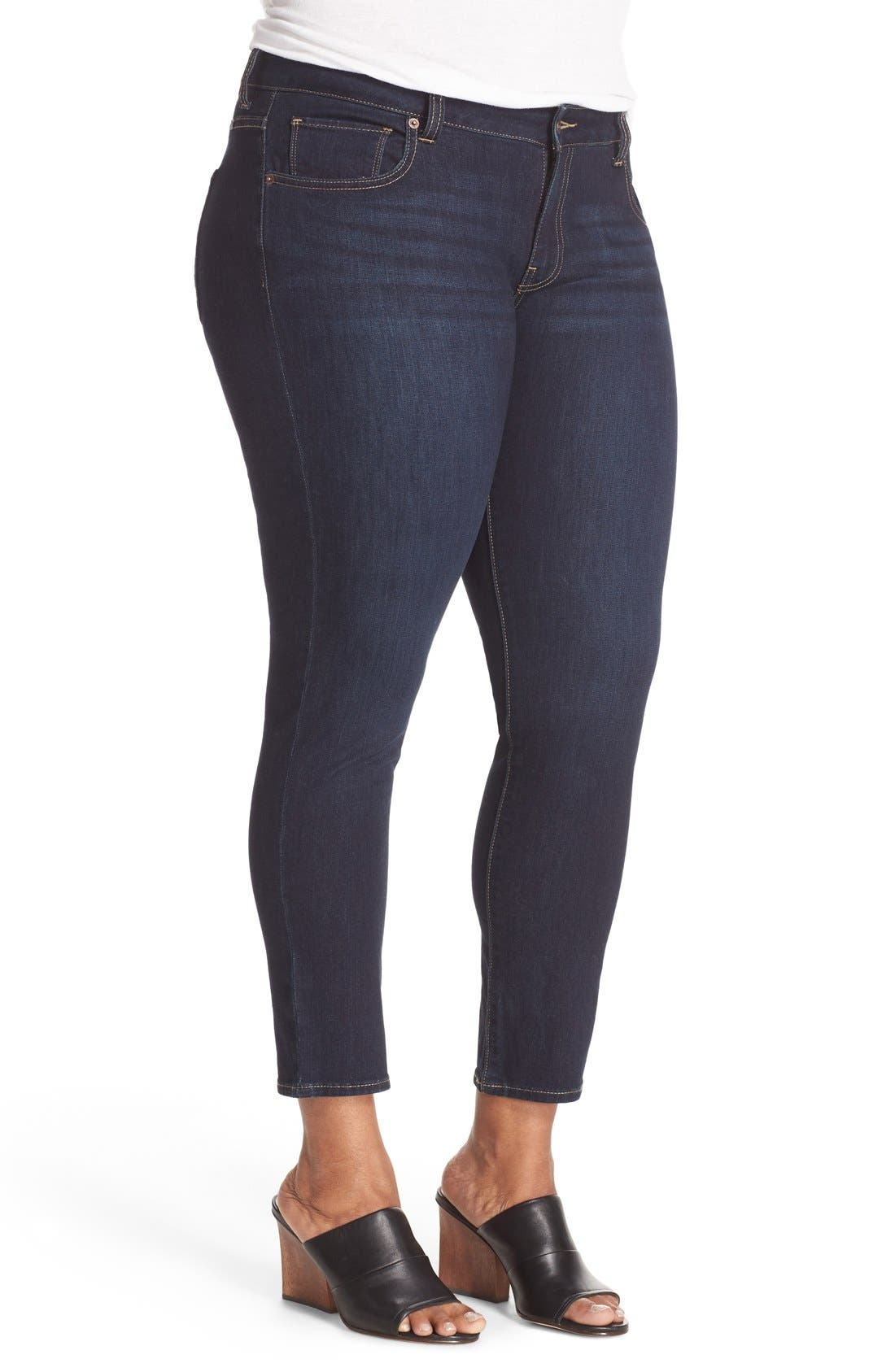 Alternate Image 5  - Lucky Brand Ginger Stretch Skinny Jeans (Plus Size)