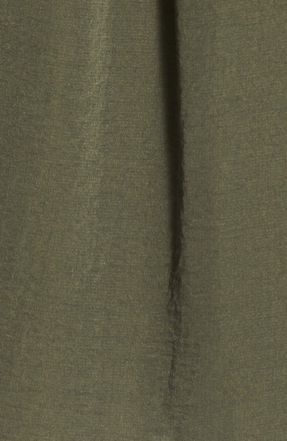 Alternate Image 5  - Lush Twist Front Woven Shirt