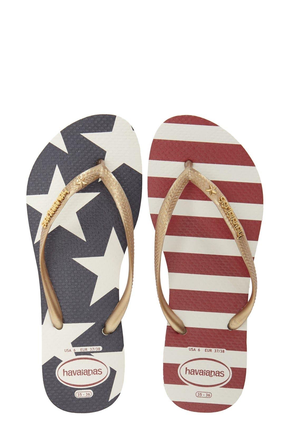 Alternate Image 3  - Havaianas 'Slim Stars and Stripes' Flip Flop (Women)