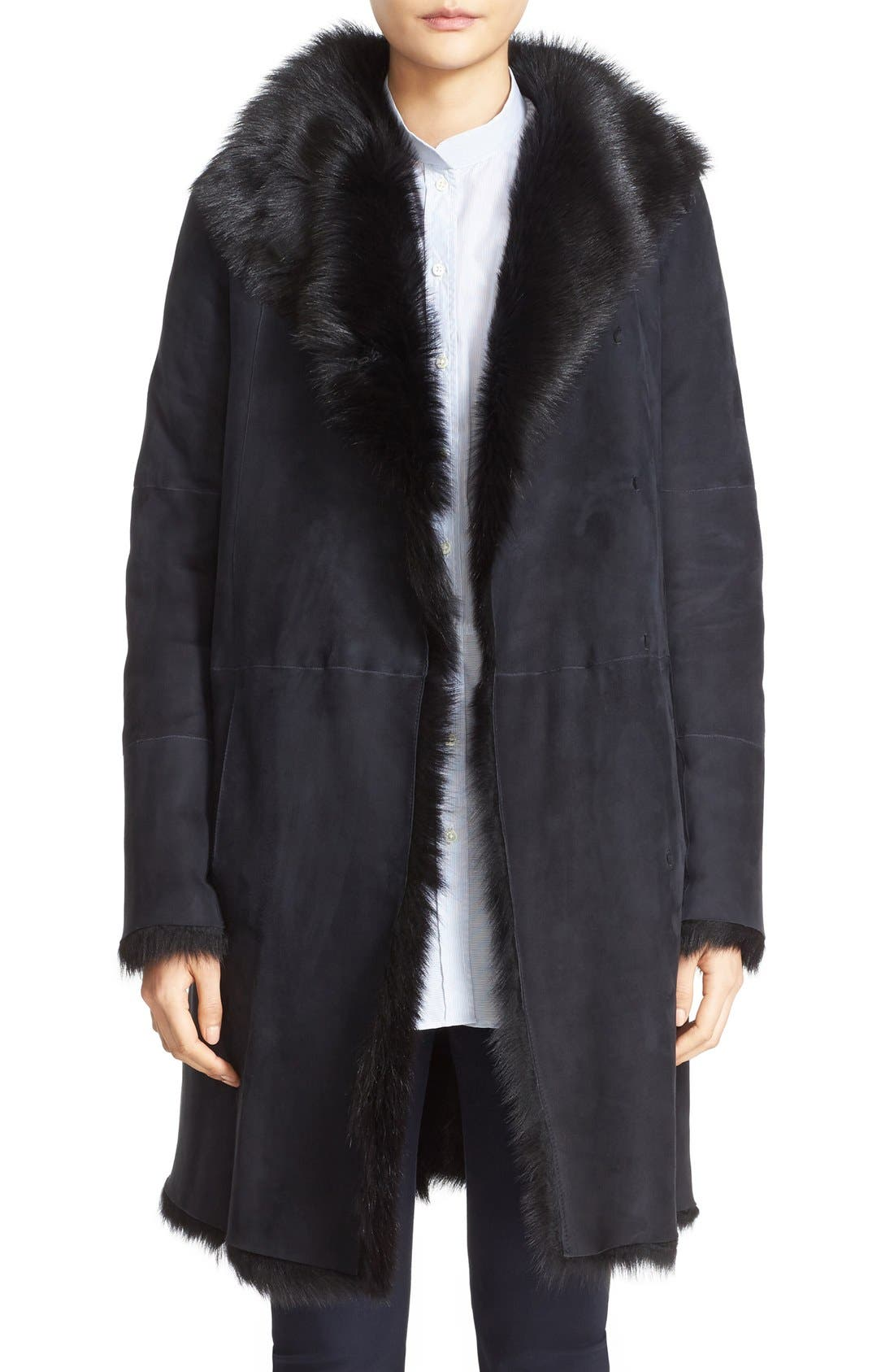 JOSEPH 'Anais' Genuine Toscana Shearling Coat
