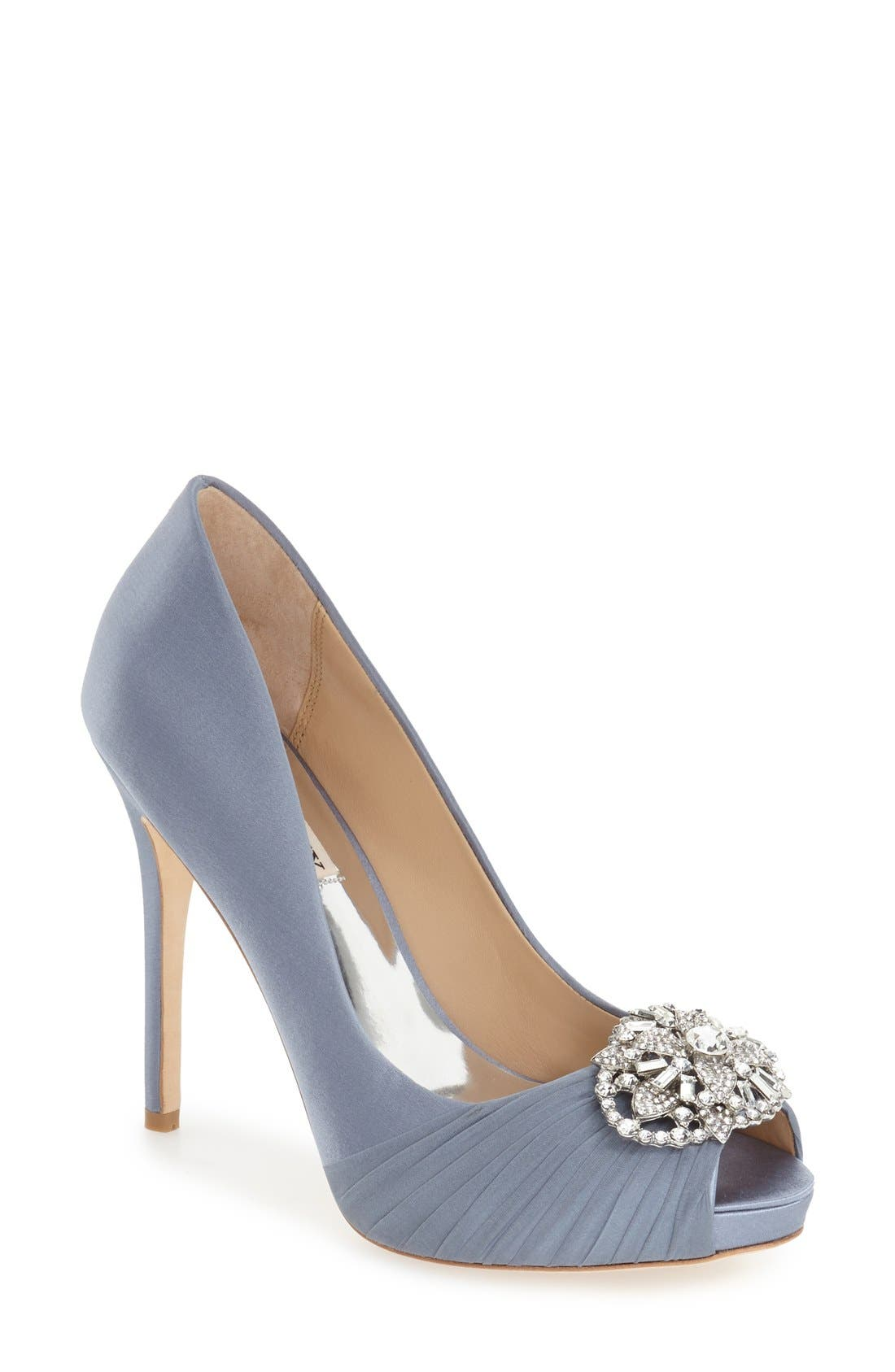 Alternate Image 1 Selected - Badgley Mischka 'Desi' Peep Toe Platform Pump (Women)