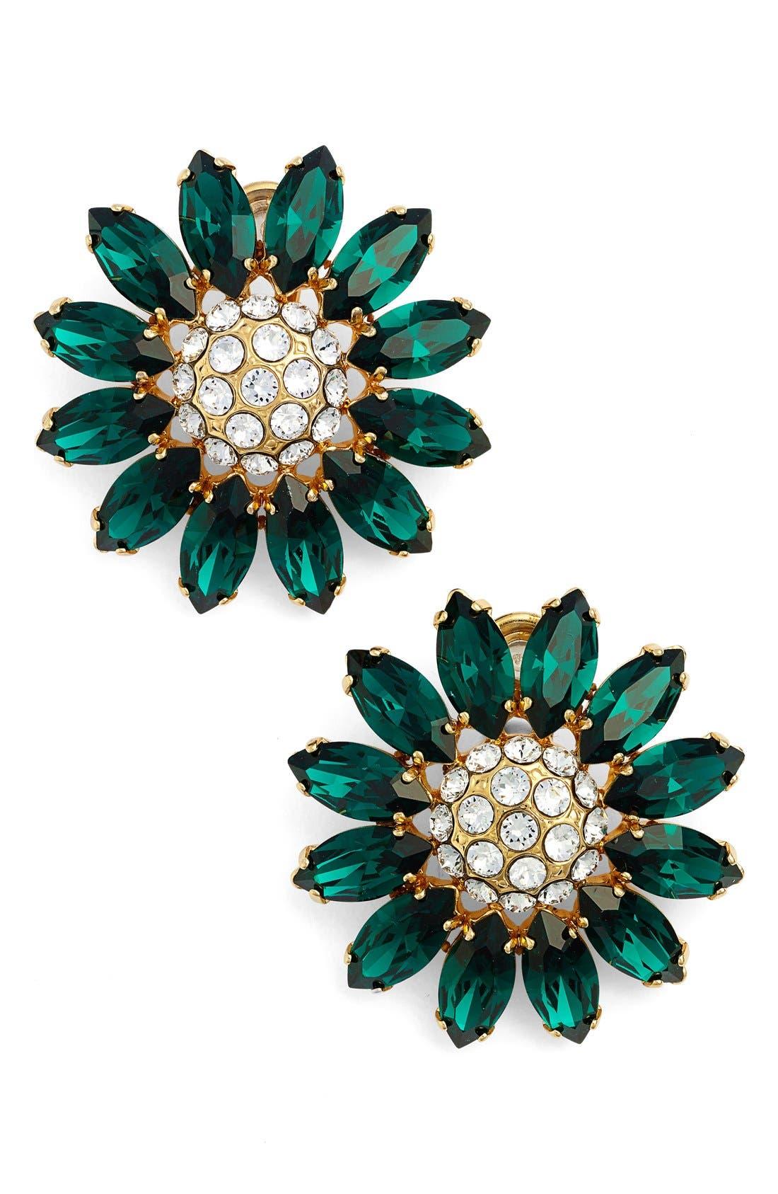 Main Image - Miu Miu 'Rebels' Crystal Floral Stud Earrings
