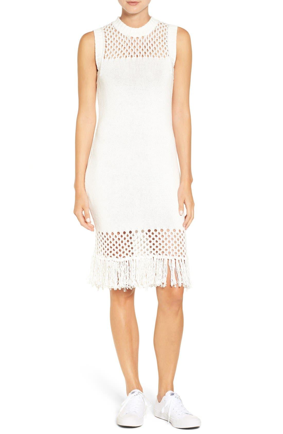 Alternate Image 1 Selected - Amour Vert 'Helen' Illusion Knit Cotton Dress