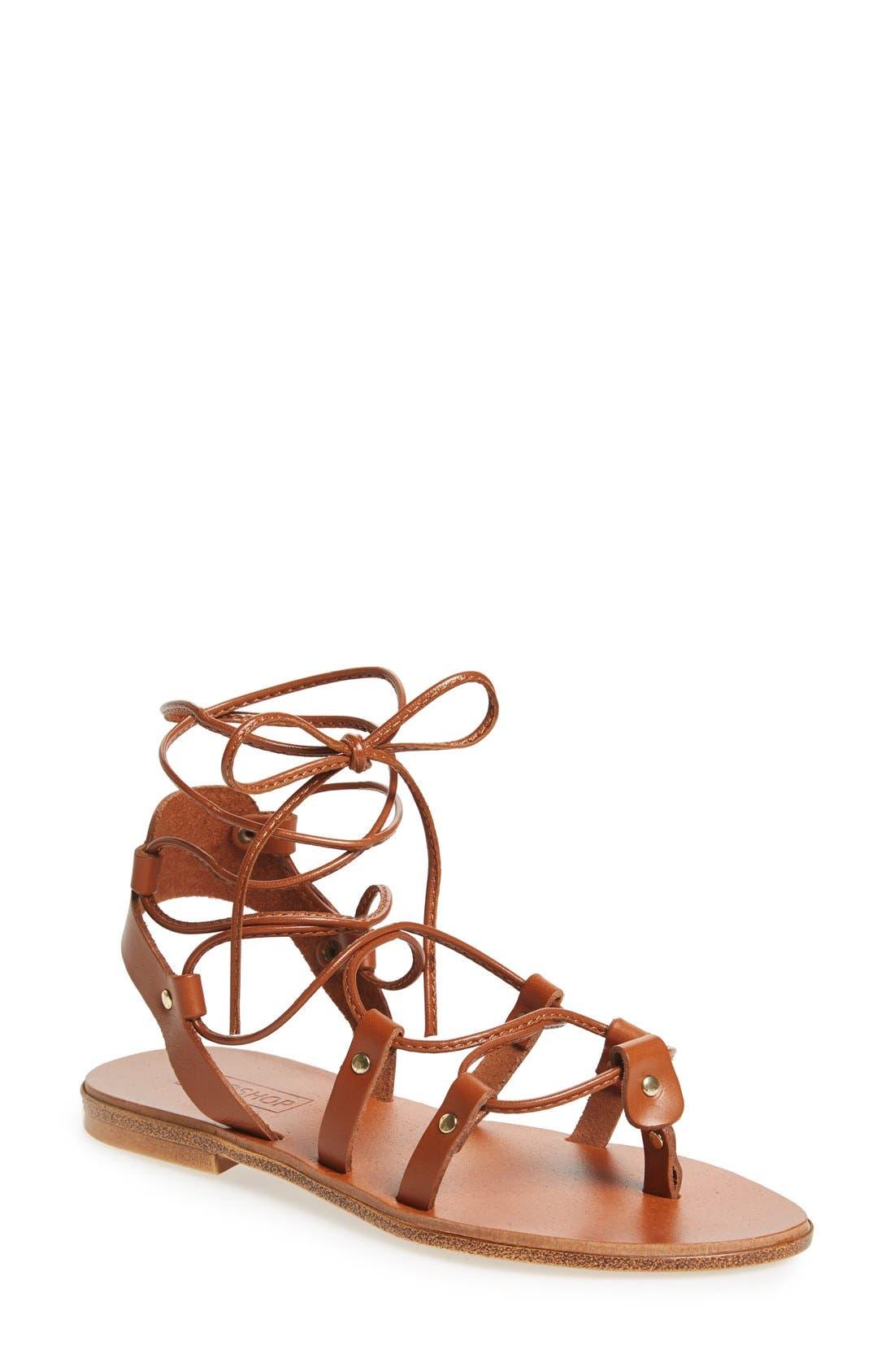 TOPSHOP 'Foxy' Ghillie Sandal