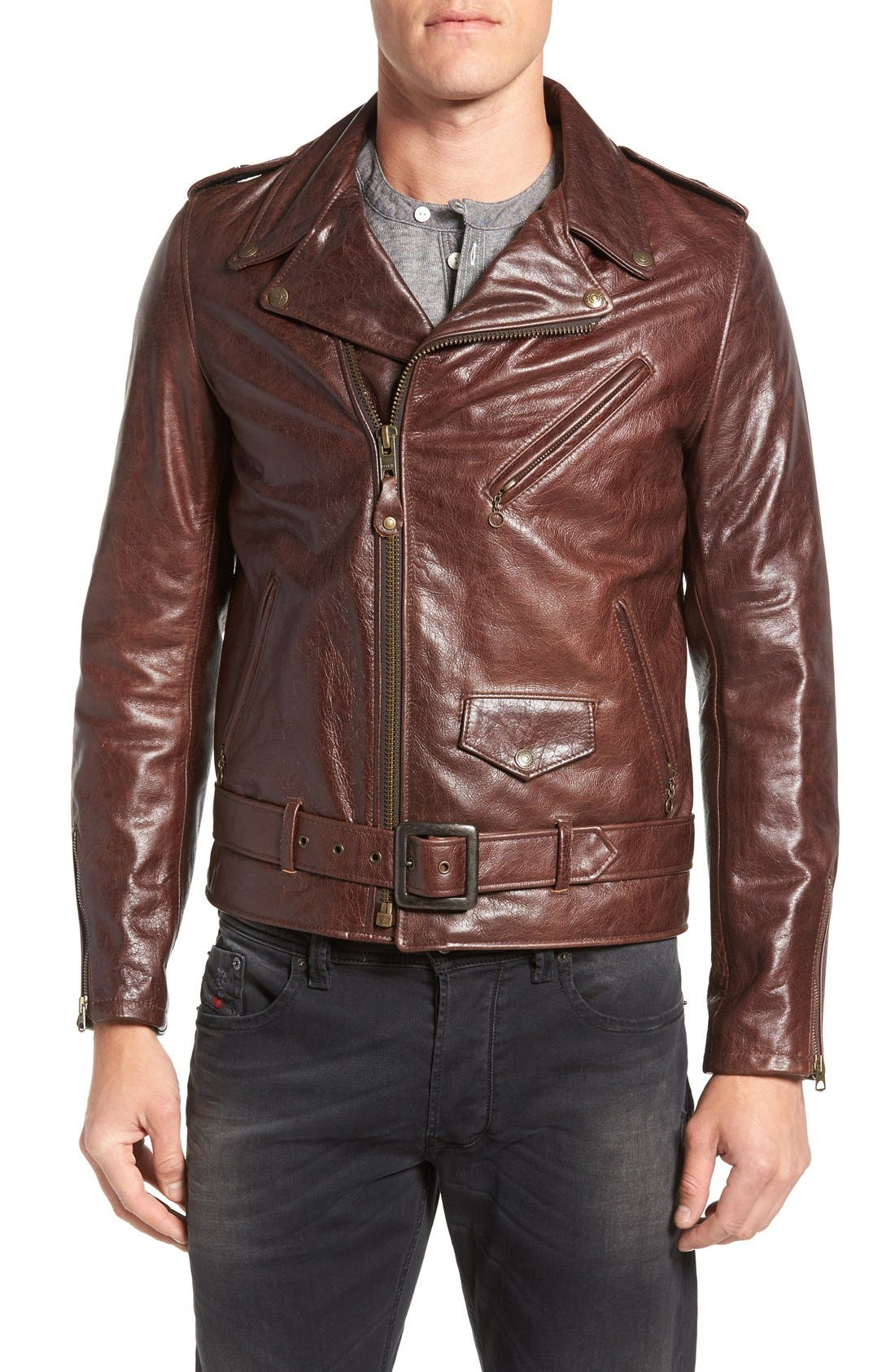 SCHOTT NYC Perfecto Regular Fit Waxy Leather Moto