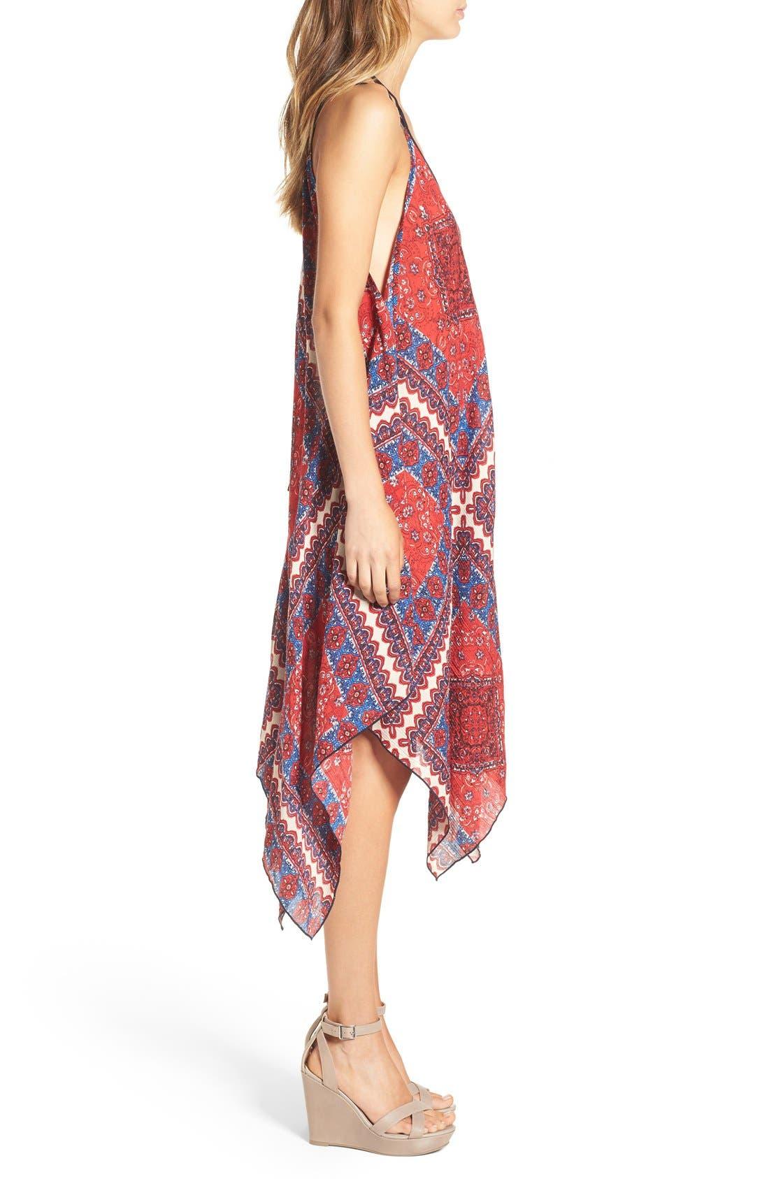 Alternate Image 3  - Band of Gypsies Scarf Print Handkerchief Hem Dress