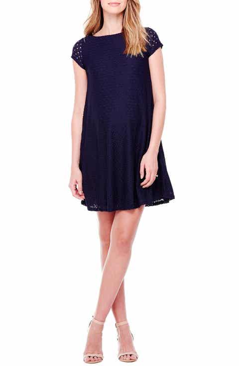 Ingrid   Isabel Lace Shift Maternity Dress