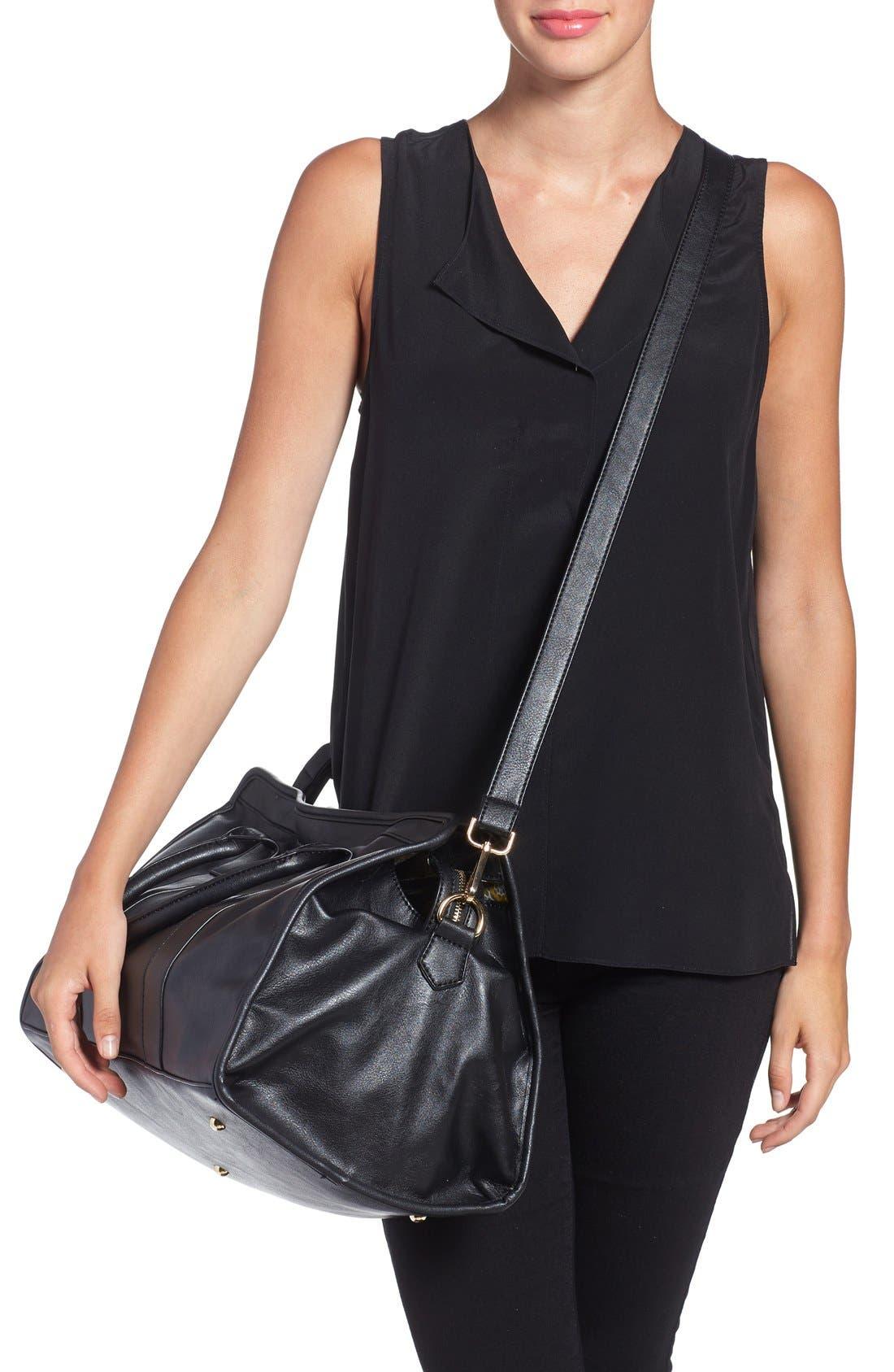 Alternate Image 2  - NU-G Faux Leather Overnighter Bag