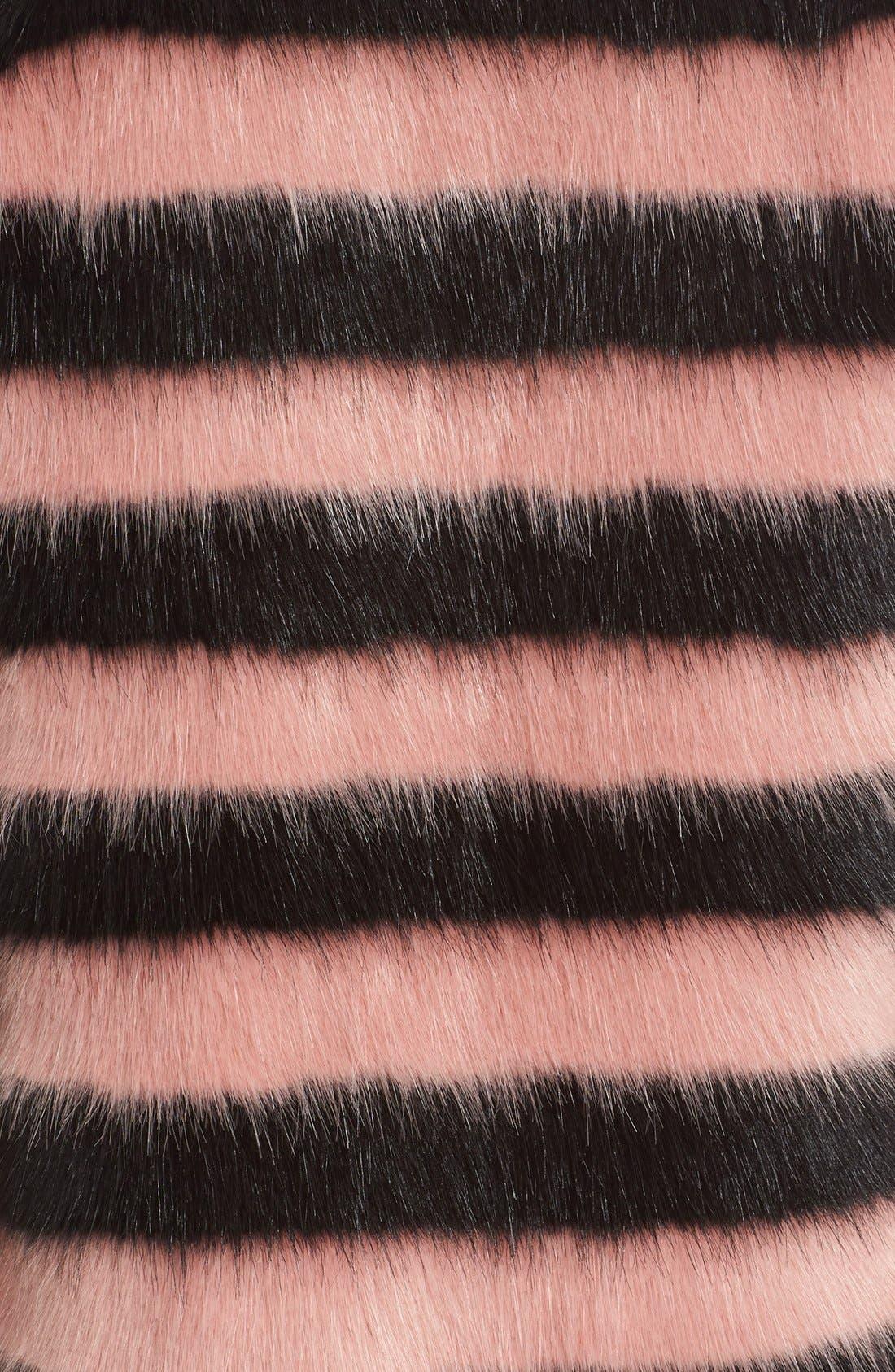 Alternate Image 3  - Shrimps 'Jean' Stripe Faux Fur Coat