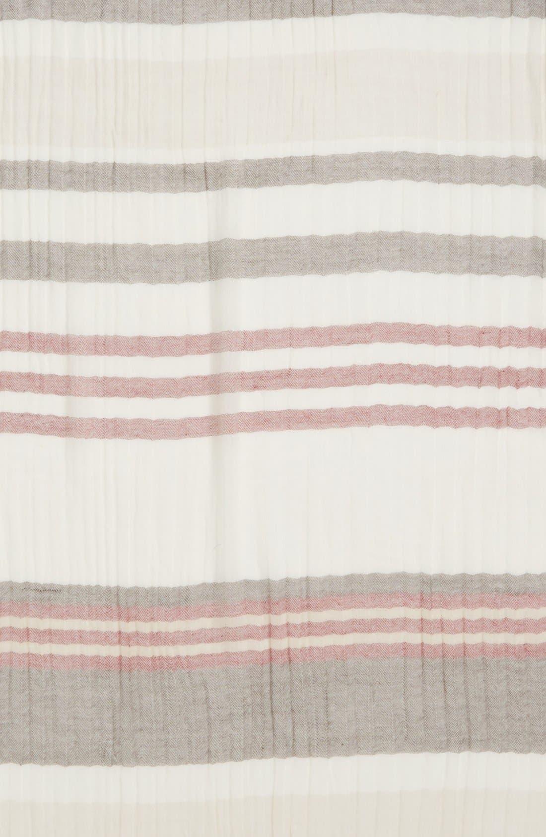 Alternate Image 3  - Caslon® Stripe Wool Wrap Scarf