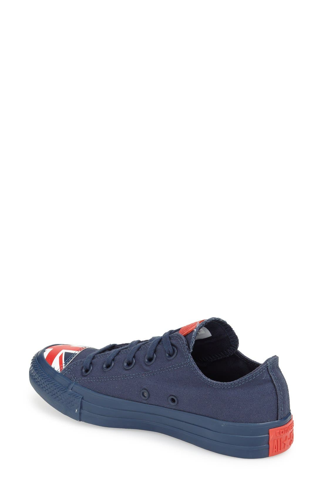 Alternate Image 2  - Converse Chuck Taylor® All Star® 'Ox - Flag Toe' Low Top Sneaker (Women)