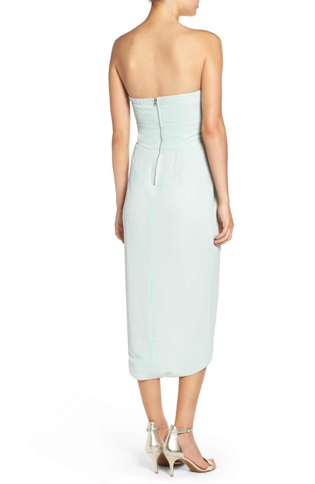 Alternate Image 2  - TFNC 'Catalina' Embellished Strapless Midi Dress
