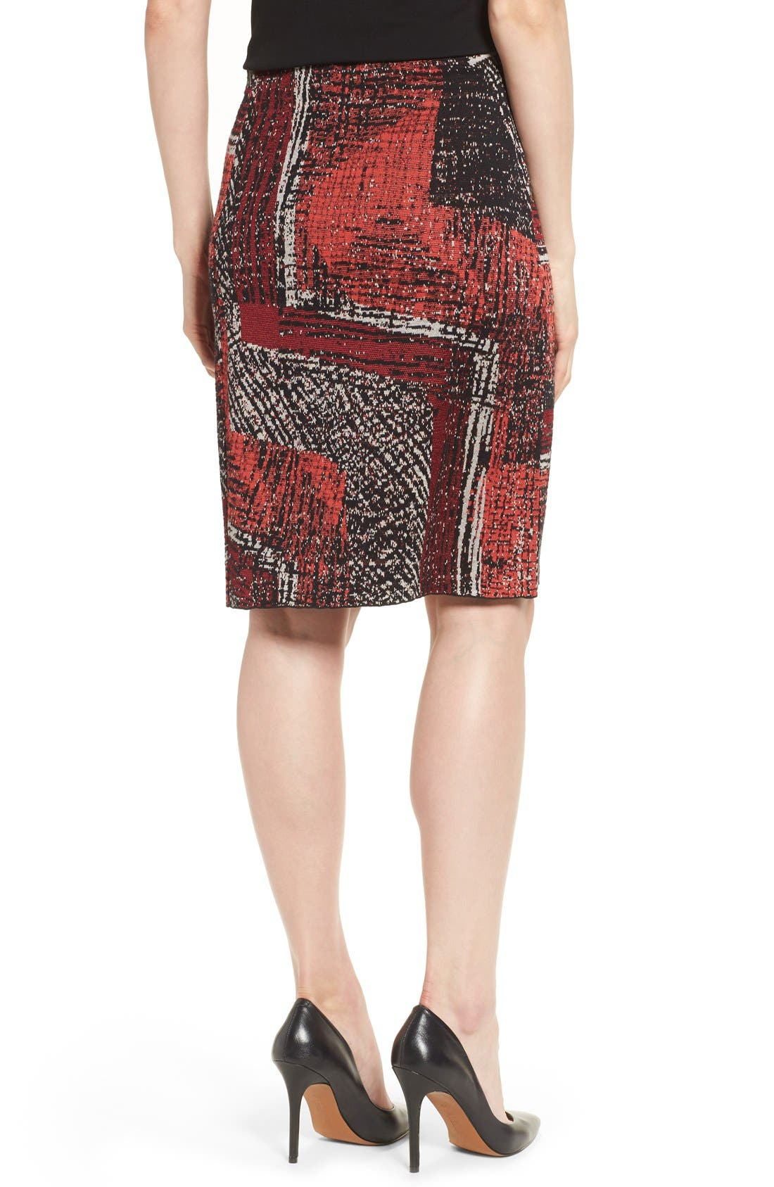 Alternate Image 2  - NIC+ZOE 'Making Marks' Print Knit Pencil Skirt (Regular & Petite)