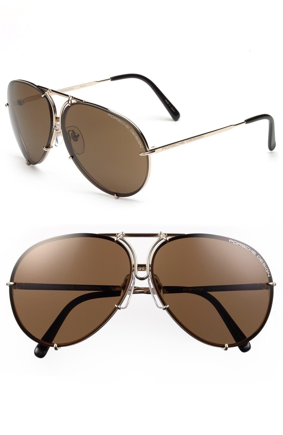 PORSCHE DESIGN 'P8478' 63mm Aviator Sunglasses