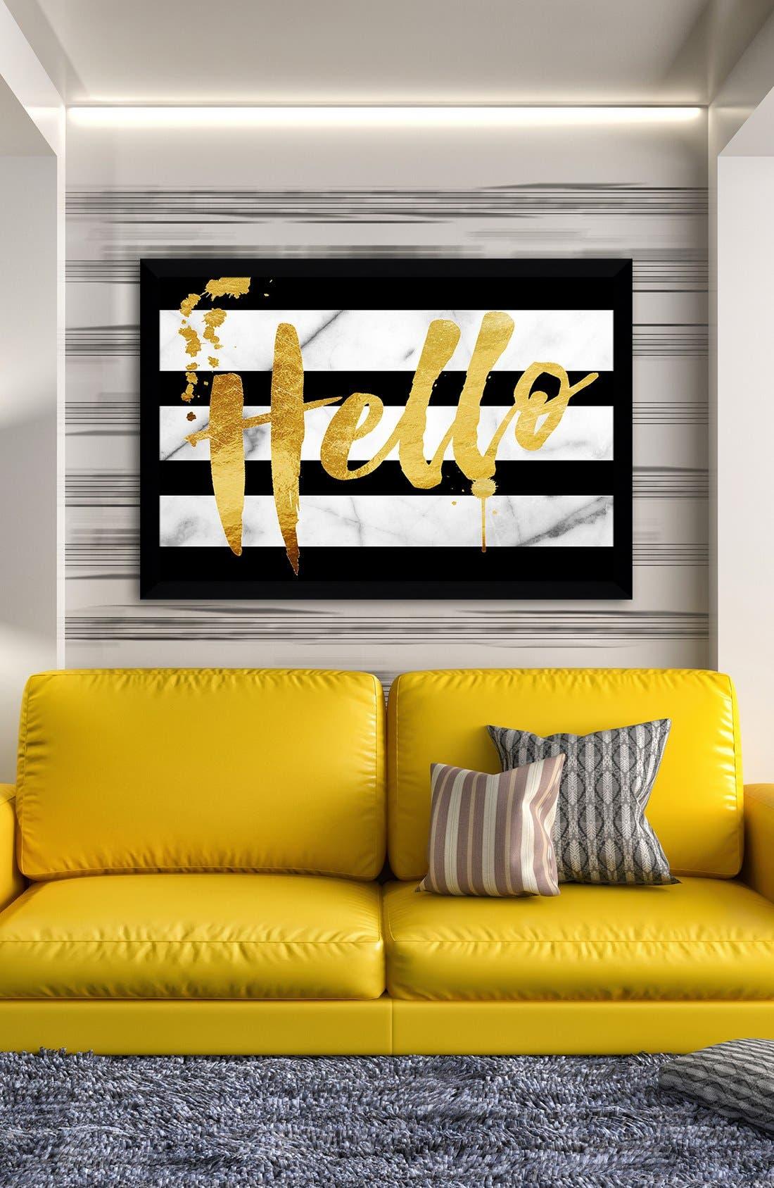 Alternate Image 2  - Picture Perfect 'Hello' Fine Art Print