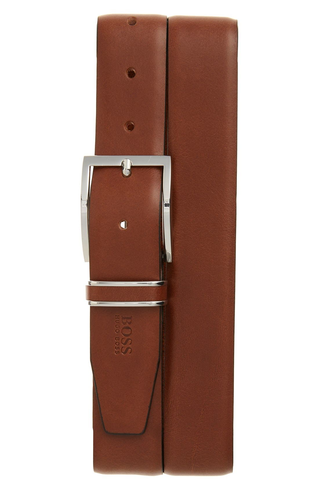 BOSS 'Froppin' Leather Belt