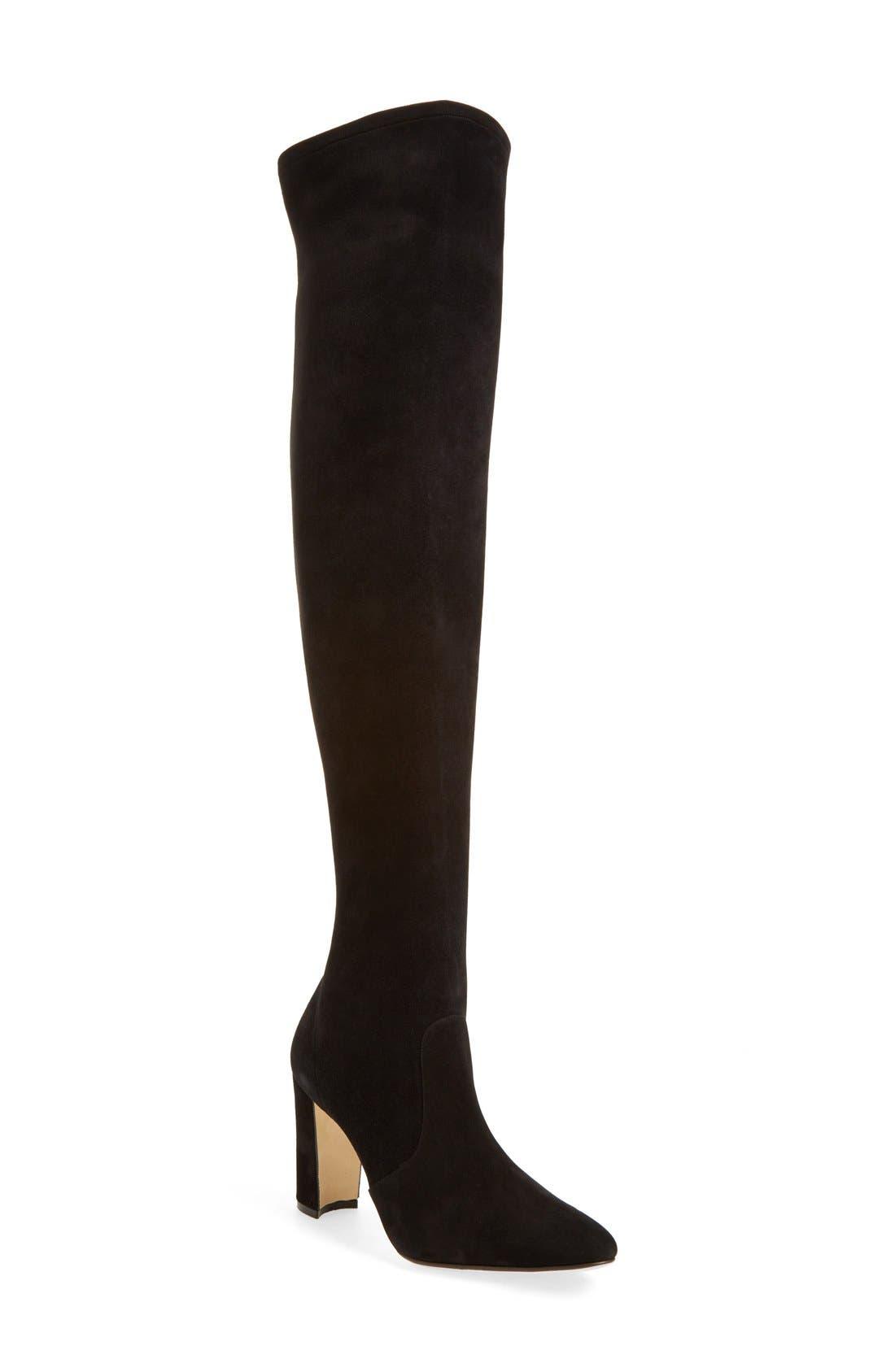 Alternate Image 1 Selected - Manolo Blahnik 'Pascalla' Over the Knee Boot (Women)