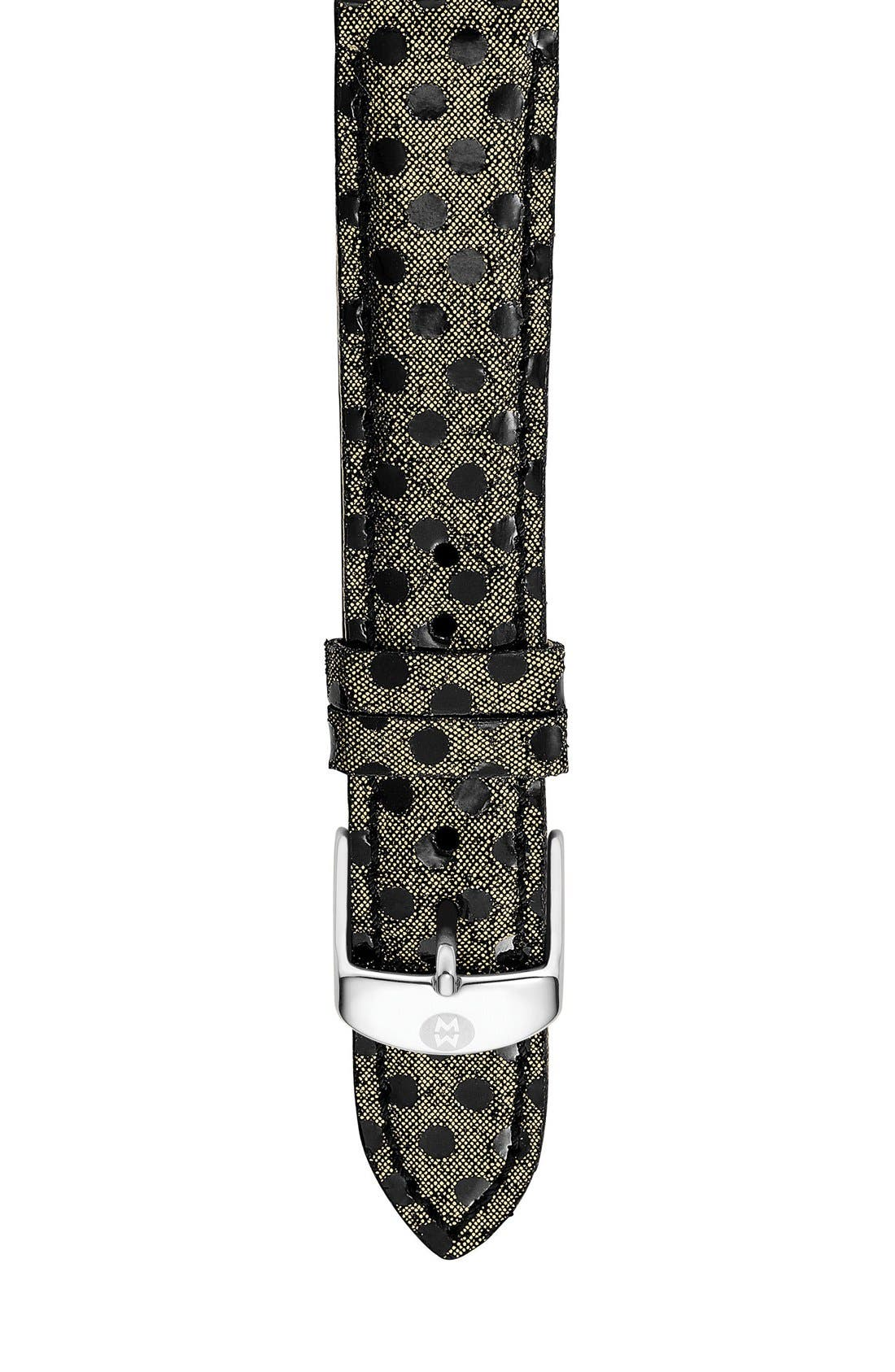MICHELE 16mm Reptile Dot Leather Strap