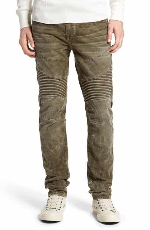 True Religion Brand Jeans 'Rocco' Slim Fit Corduroy Moto Pants