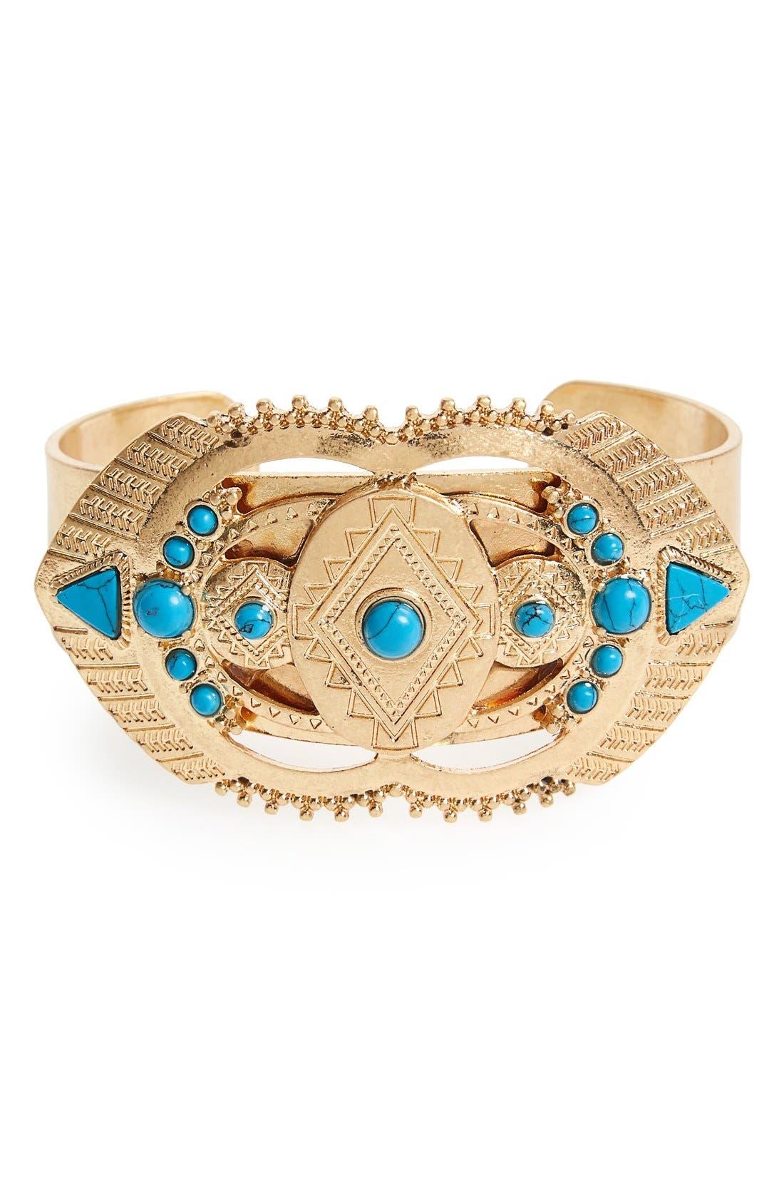Alternate Image 1 Selected - Danielle Nicole 'Dream' Reconstituted Turquoise Cuff