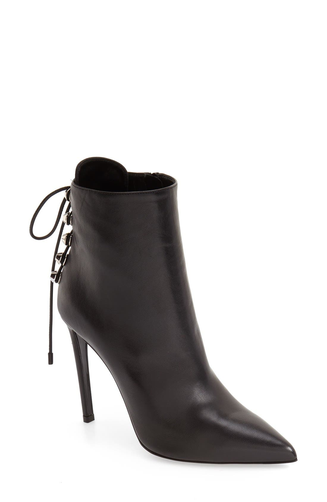 Main Image - Balenciaga Lace-Up Back Pointy Toe Bootie (Women)