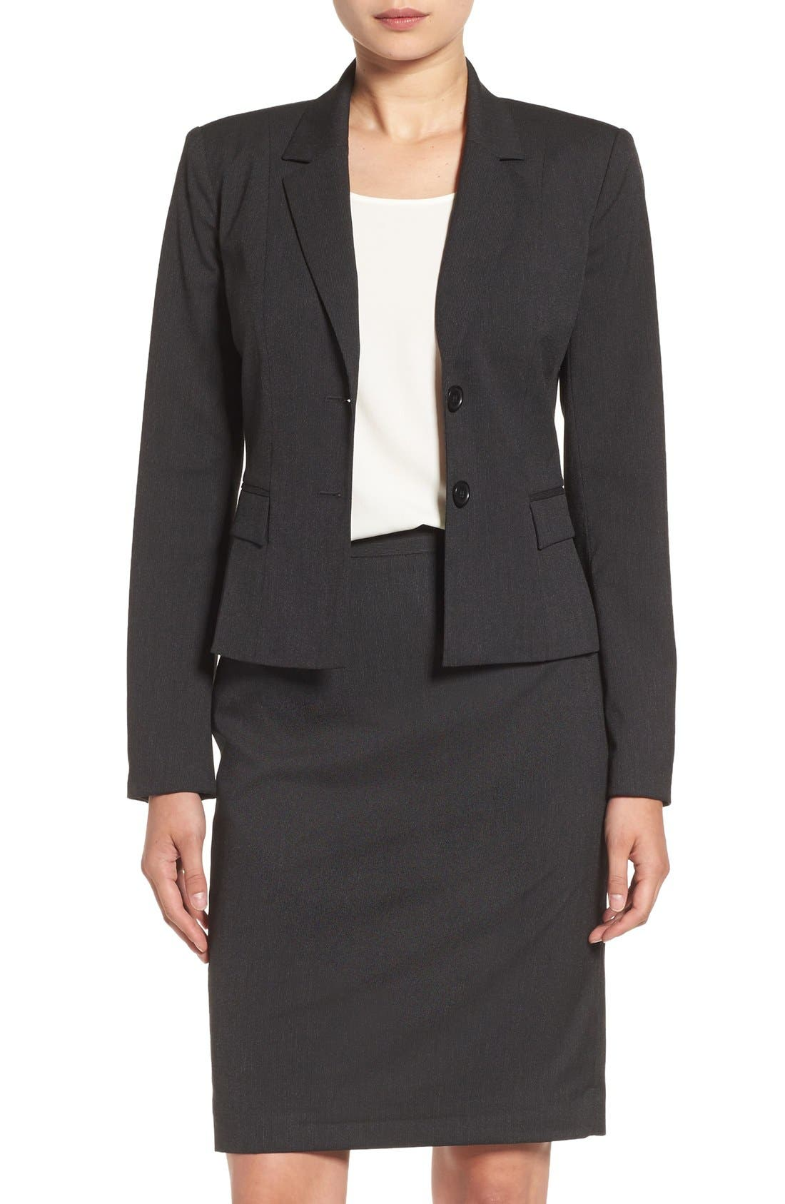 Alternate Image 1 Selected - Halogen® Mini Stripe Suit Jacket (Regular & Petite)