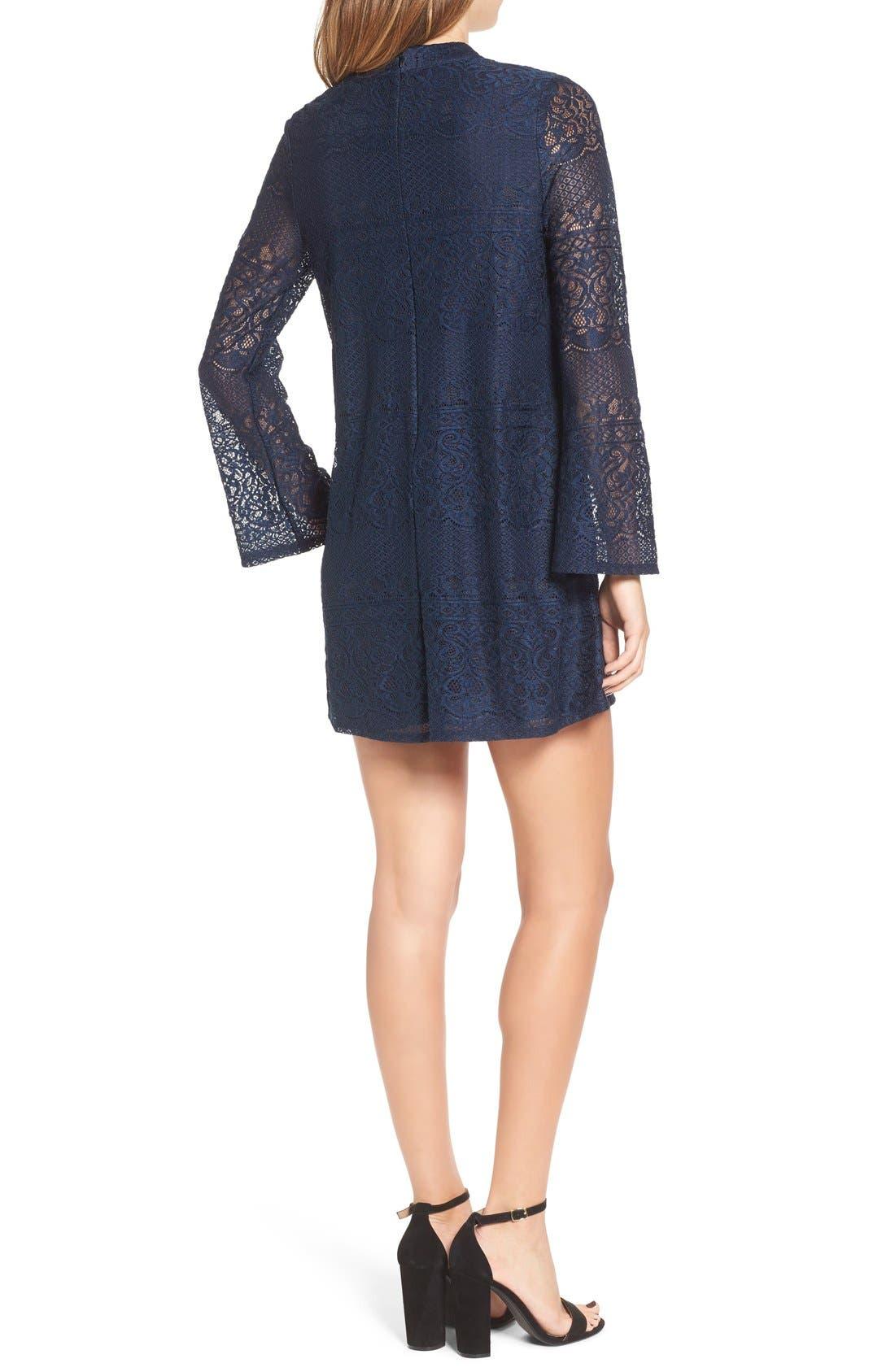 Alternate Image 2  - Speechless Bell Sleeve Lace Shift Dress